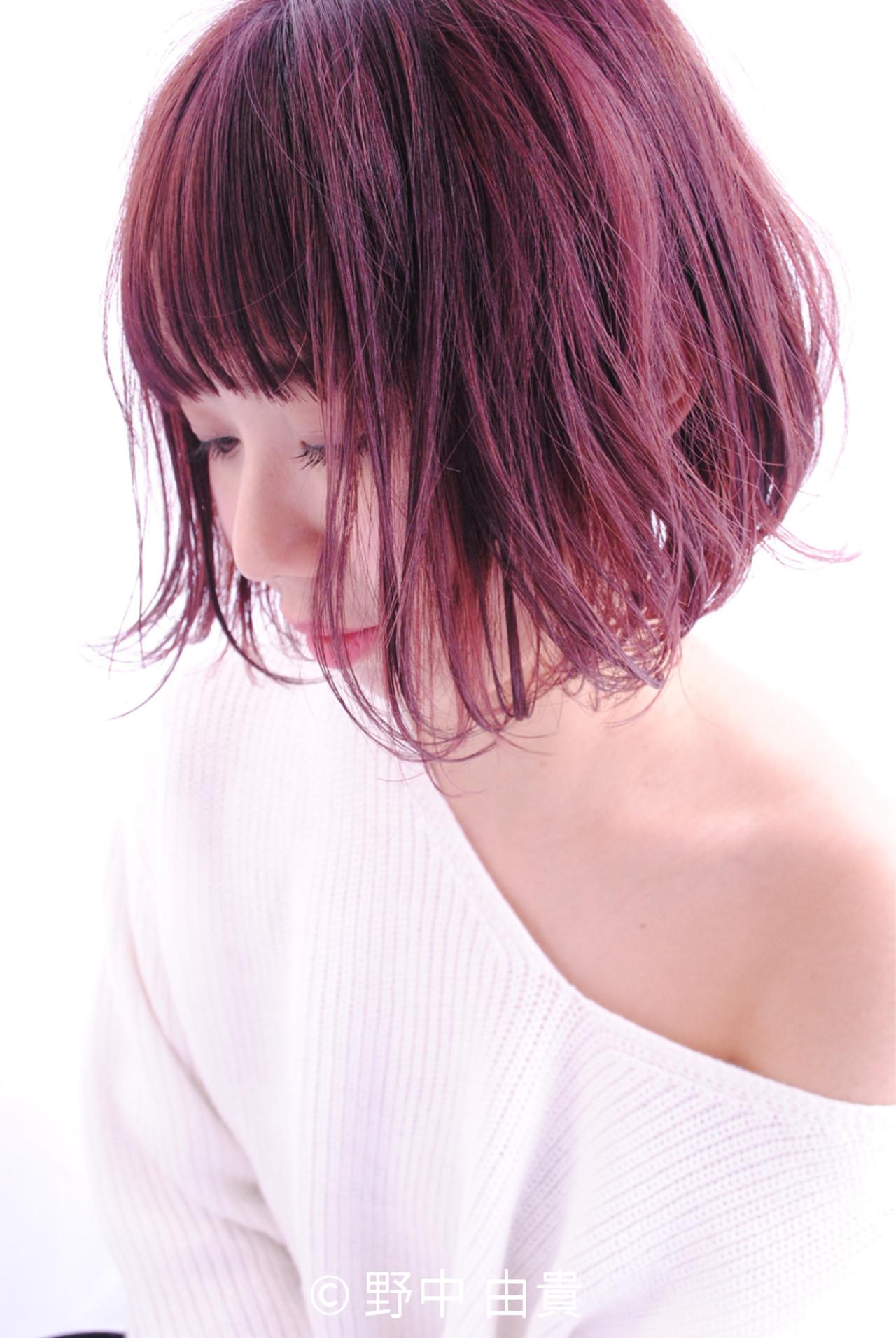 ガーリー こなれ感 レッド 大人女子 ヘアスタイルや髪型の写真・画像 | 野中 由貴 / owlhair