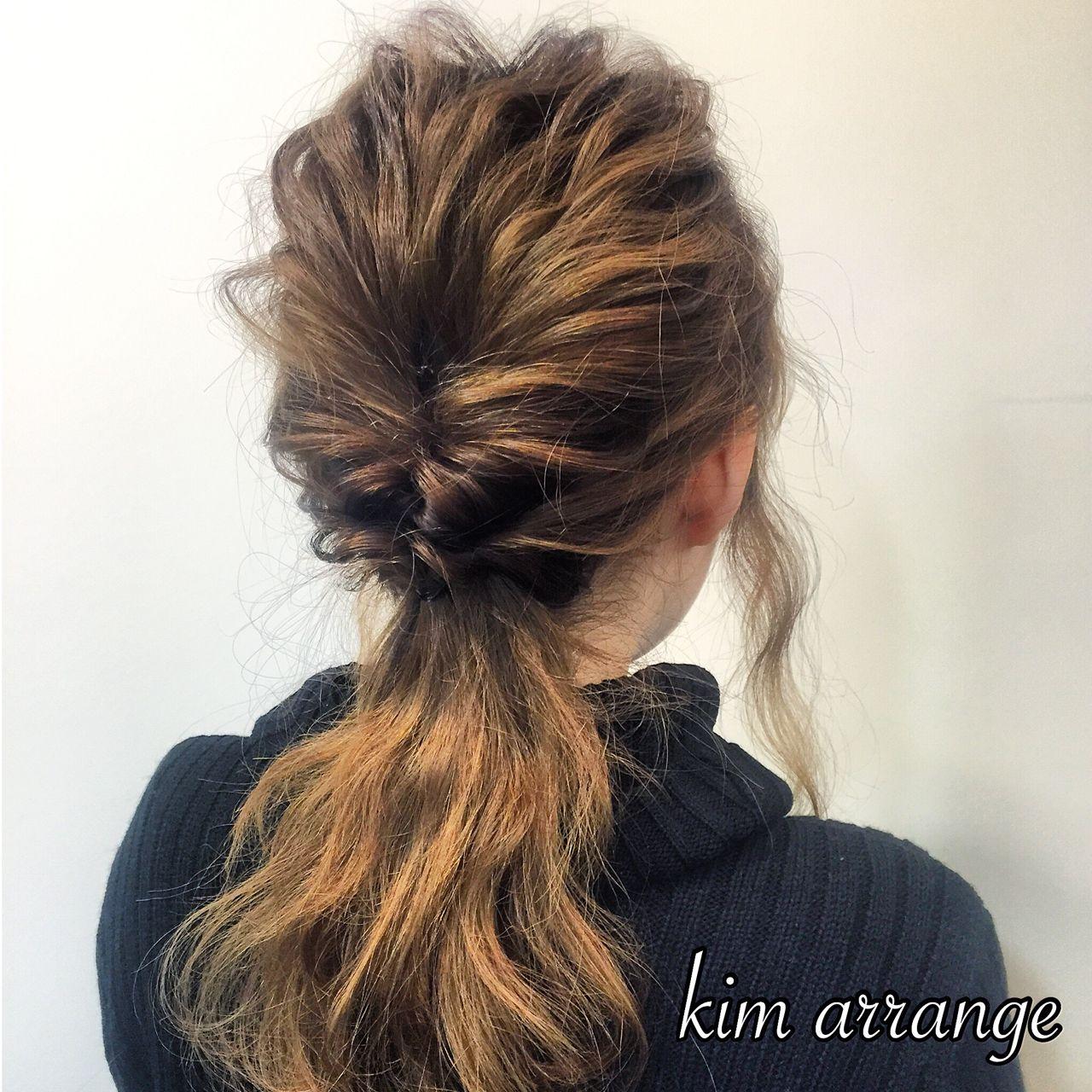 ポニーテール ヘアアレンジ 簡単ヘアアレンジ 愛され ヘアスタイルや髪型の写真・画像   木村 達沖 / Lacisa