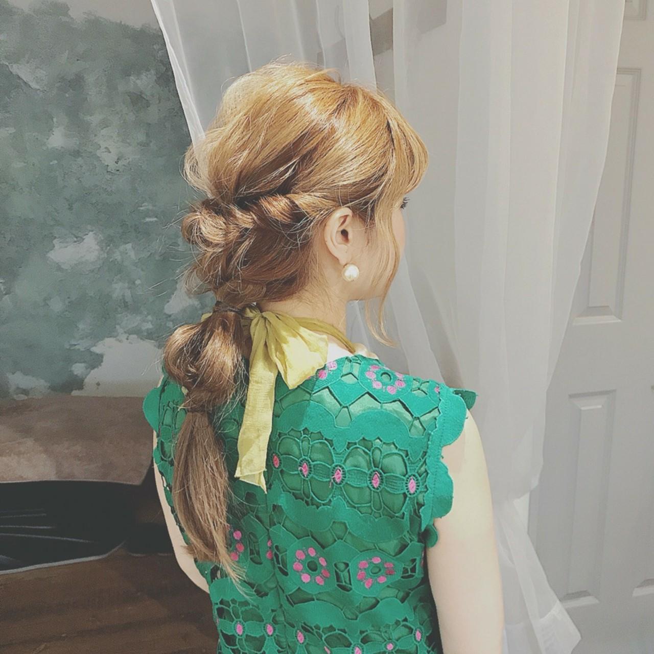 ロング ショート 結婚式 大人かわいい ヘアスタイルや髪型の写真・画像   浦川由起江 / nanon
