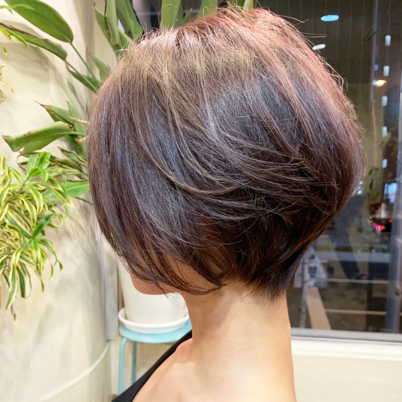 くびれボブ ボブ モテ髪 フェミニン ヘアスタイルや髪型の写真・画像 | Tadao Shimodaira/FLOW / FLOW aoyama