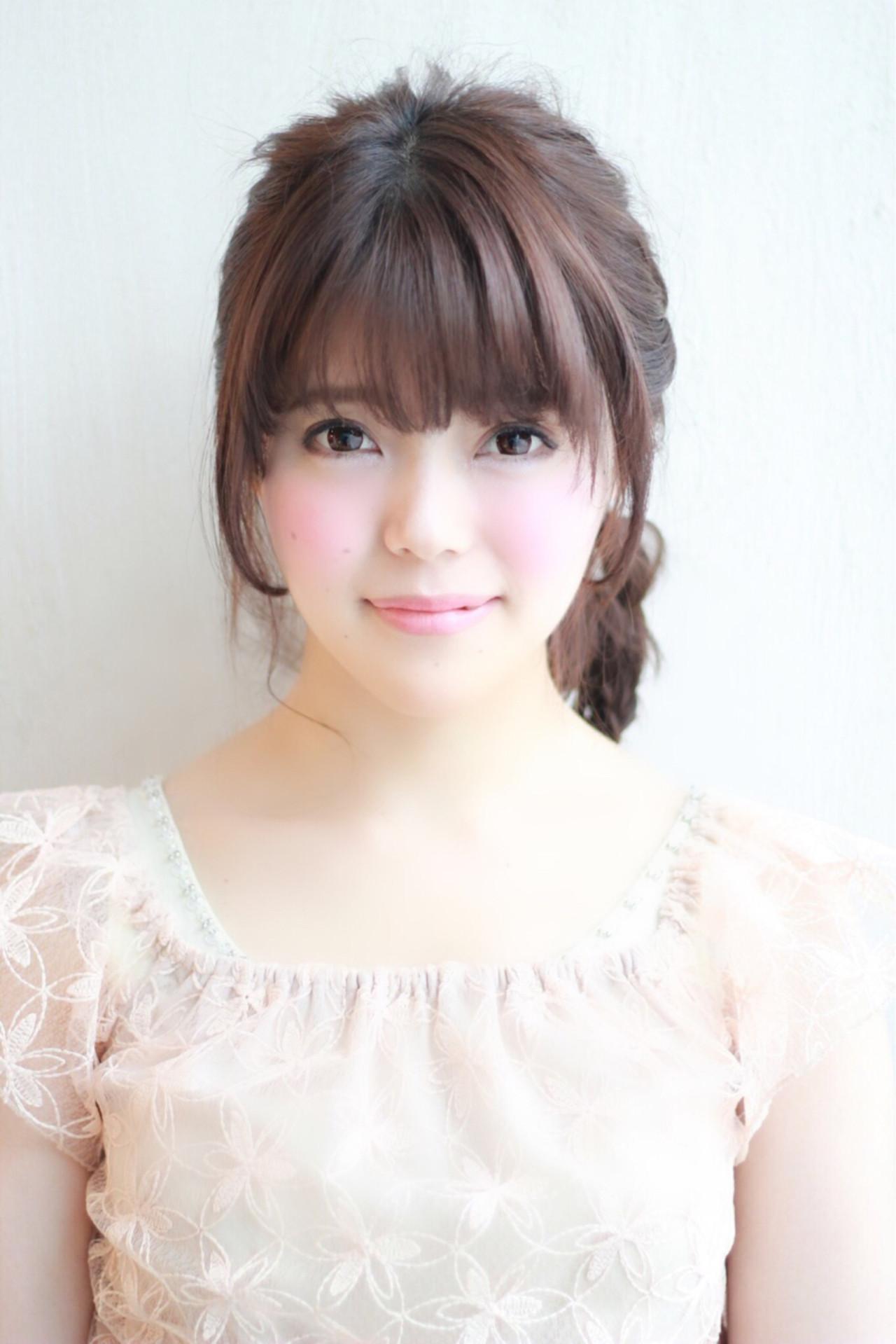 かわいい ヘアアレンジ ナチュラル ゆるふわ ヘアスタイルや髪型の写真・画像 | 山田 あかり /