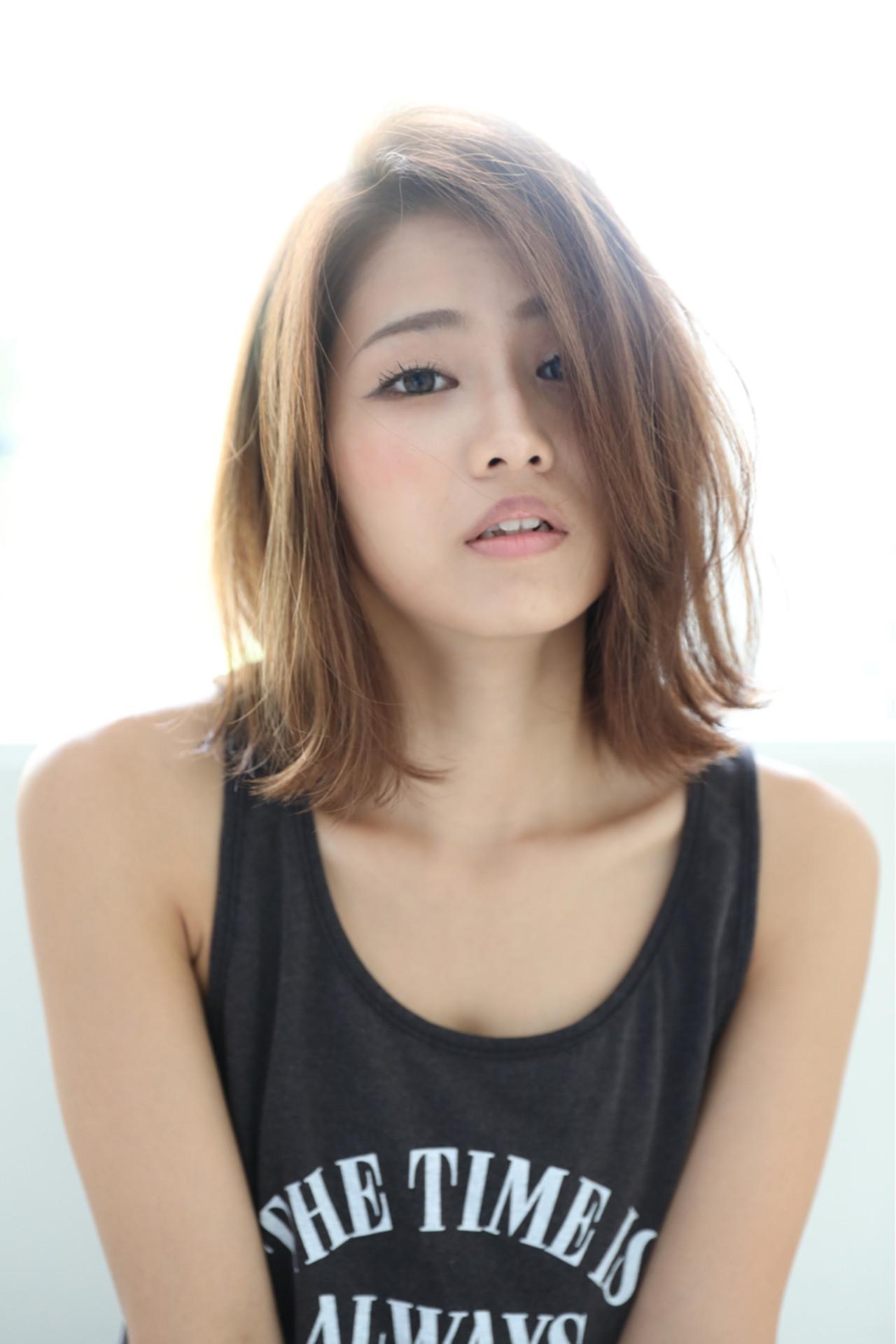 小顔 ボブ 秋 ウェットヘア ヘアスタイルや髪型の写真・画像   石田 学史 / DISHEL