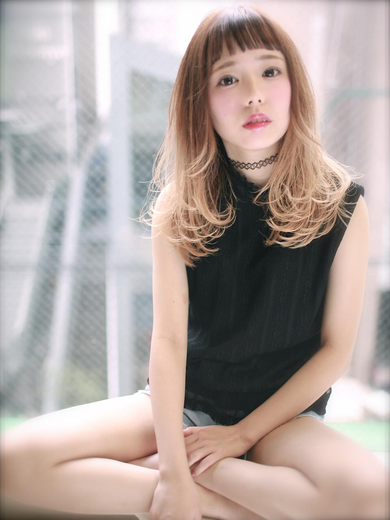 大人かわいい アッシュ 前髪あり グラデーションカラー ヘアスタイルや髪型の写真・画像 | SHIN / Jibu