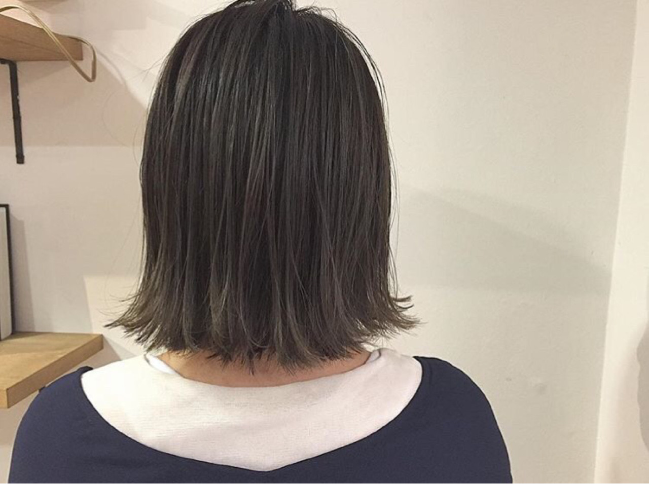 デート 切りっぱなし ナチュラル オフィス ヘアスタイルや髪型の写真・画像 | KENTO.NOESALON / NOE SALON