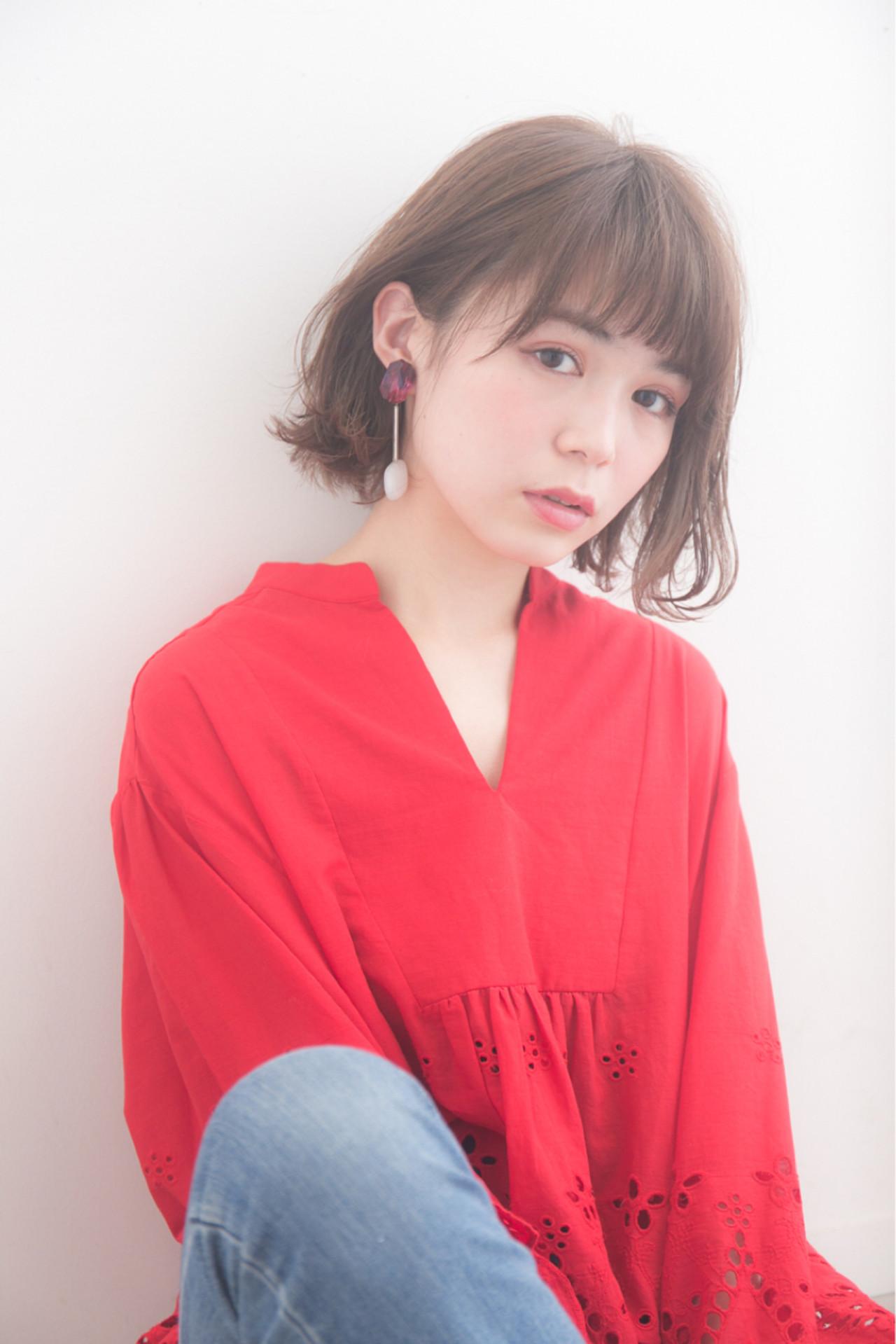 ナチュラル ミルクティー 色気 ボブ ヘアスタイルや髪型の写真・画像   羽田ひろむ / LAiLY  by  GARDEN