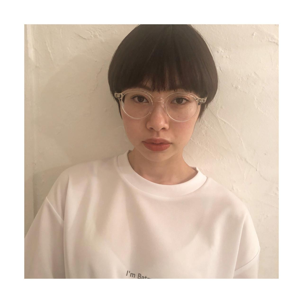 ショートマッシュ マッシュヘア マッシュショート ショート ヘアスタイルや髪型の写真・画像 | 百瀬優 / kakimoto arms aoyama店
