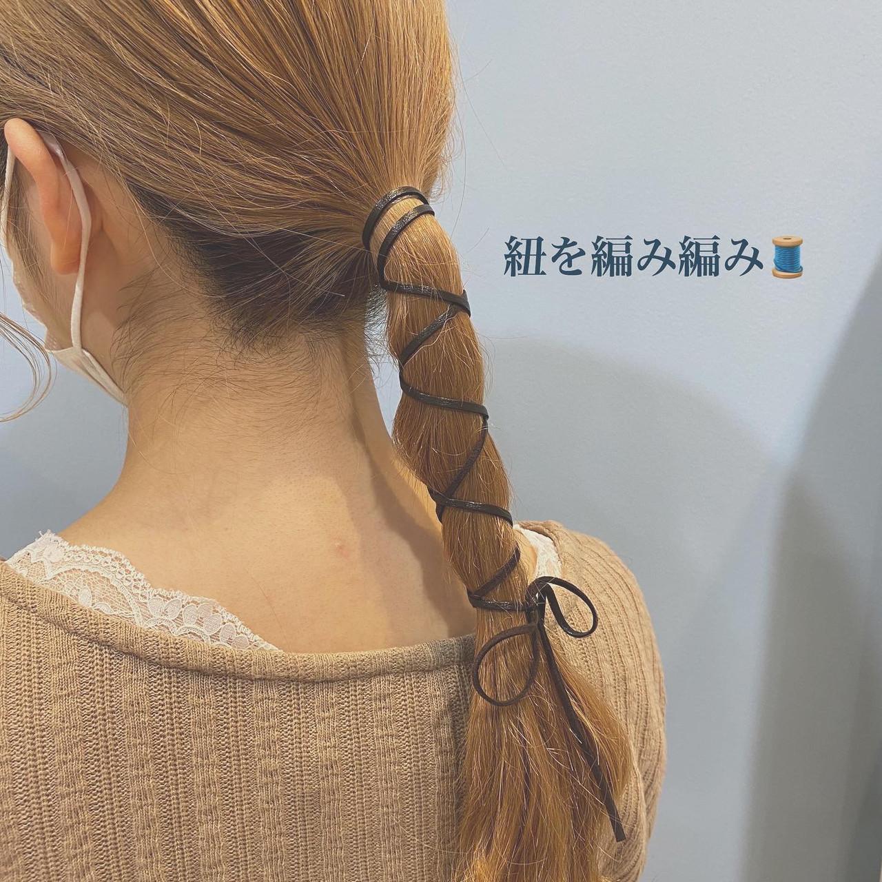 セルフヘアアレンジ ナチュラル ヘアアレンジ 簡単ヘアアレンジ ヘアスタイルや髪型の写真・画像 | 山口 美佳 / loco by  neolive