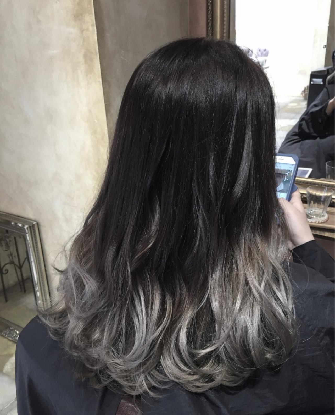 ストリート ロング アッシュ 暗髪 ヘアスタイルや髪型の写真・画像   Ryo Nakahira /UniQ / UniQ 美容室