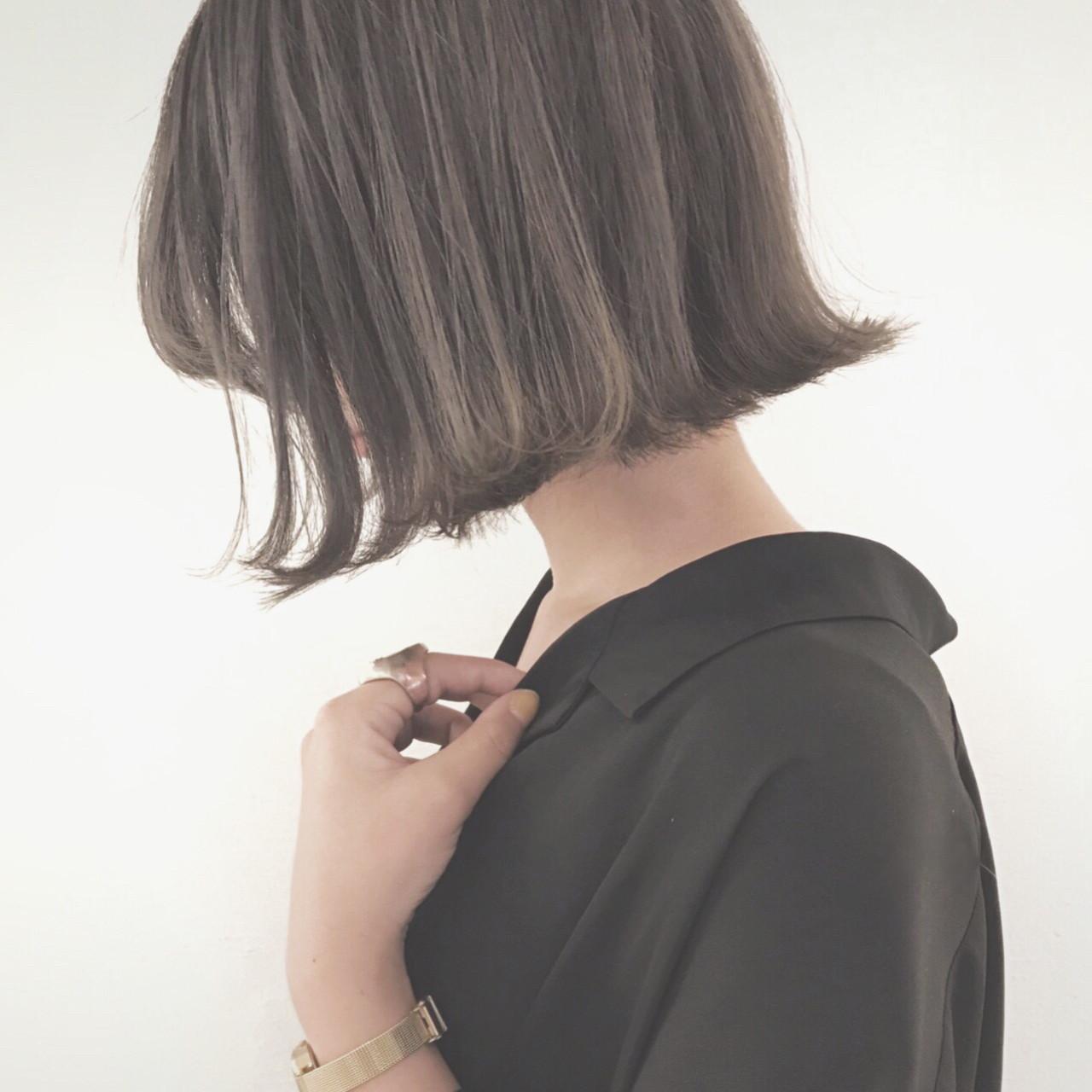 ボブ 外国人風カラー ナチュラル 黒髪 ヘアスタイルや髪型の写真・画像 | 津村正和/大阪心斎橋 / freelance