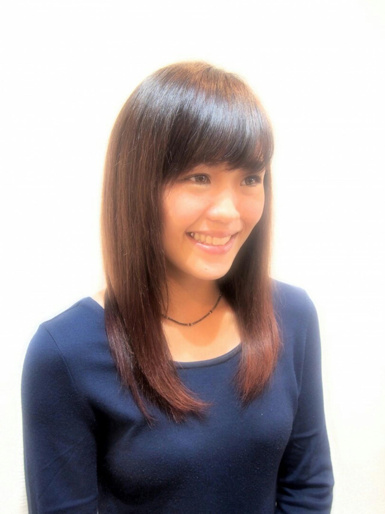 セミロング レッド ピンク ストリート ヘアスタイルや髪型の写真・画像 | Yuki Murakami / HAIR SPACE  Charme