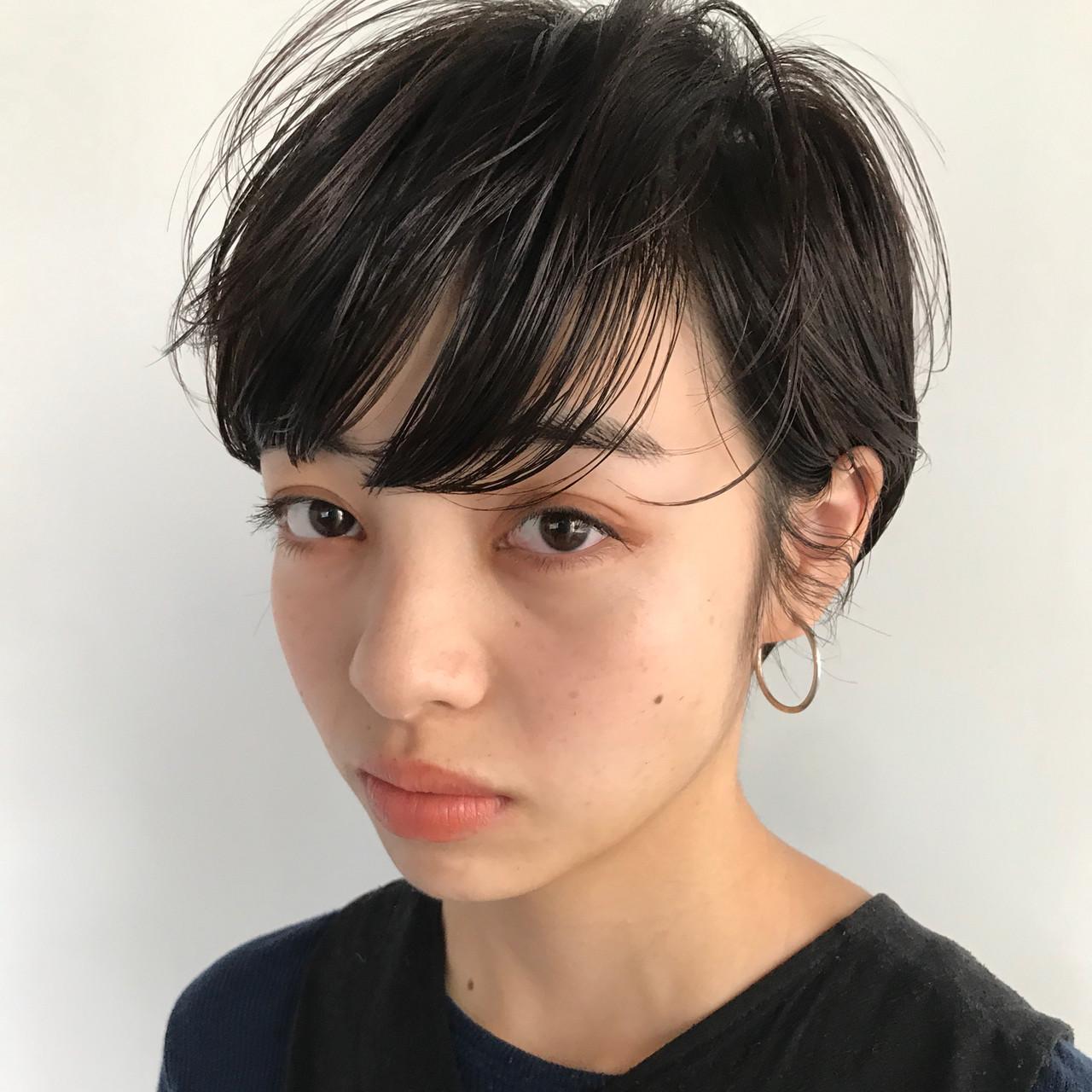 ナチュラル 前髪パーマ 前髪 ショート ヘアスタイルや髪型の写真・画像 | 高橋 忍 / nanuk渋谷店(ナヌーク)
