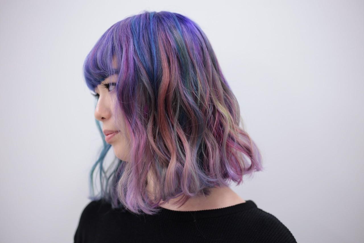 ストリート ミディアム ハイトーン ボブ ヘアスタイルや髪型の写真・画像   kanata / CLLN hair design