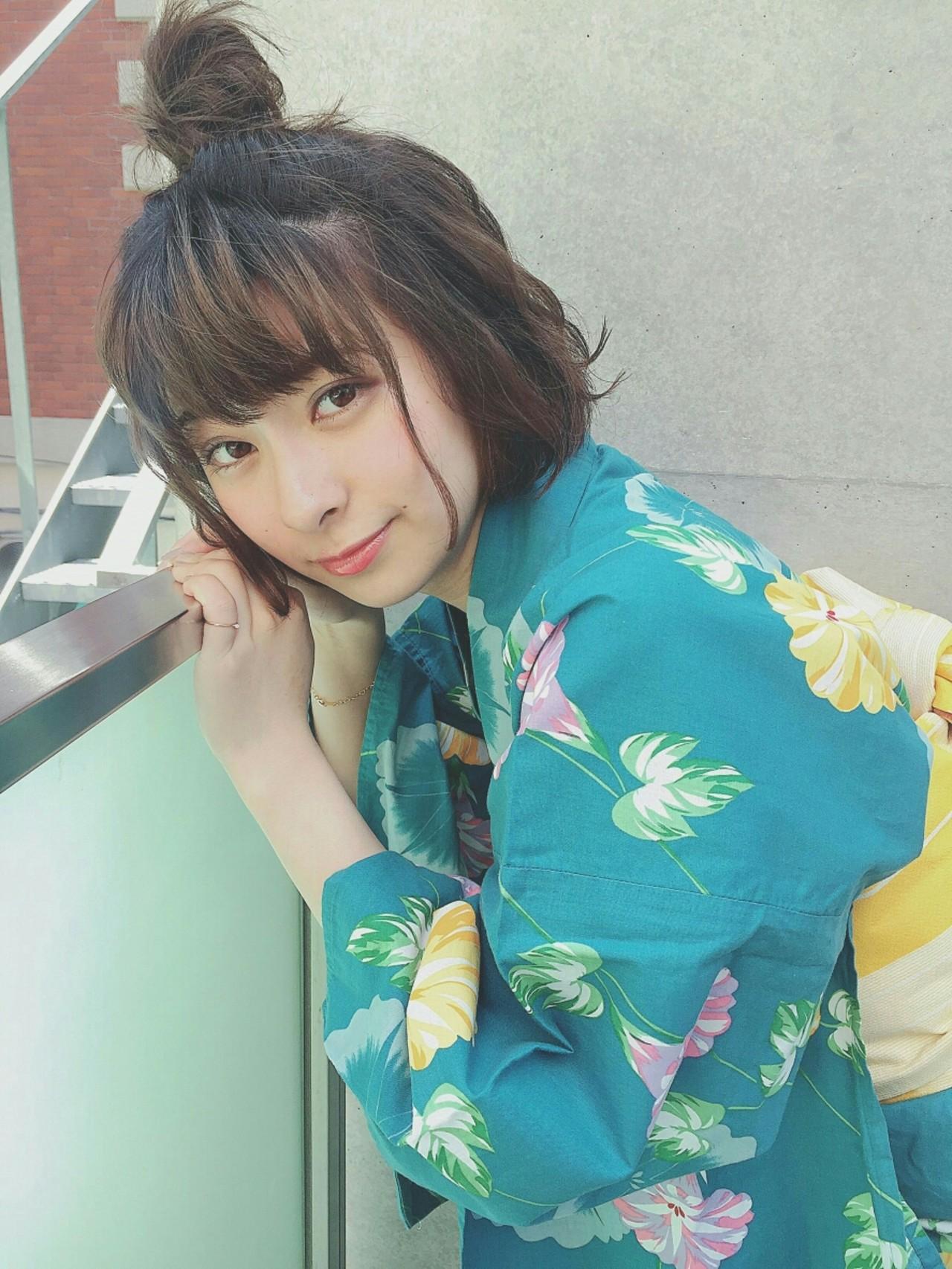 """テーマは""""イマドキ""""の髪型。夏の浴衣ヘアアレンジ9選♡ まりえ / dea"""