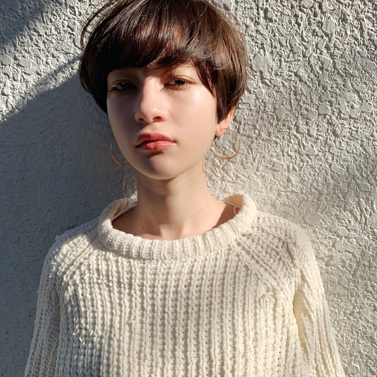 デート アウトドア モード ショートヘアスタイルや髪型の写真・画像