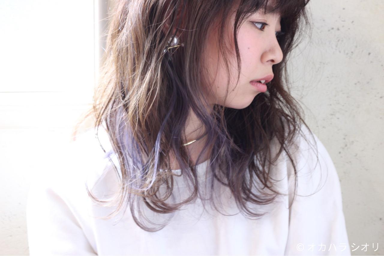 ラベンダーアッシュなあなたの髪色を旬に♪うっとり色落ちを楽しもう オカハラ シオリ / ninon