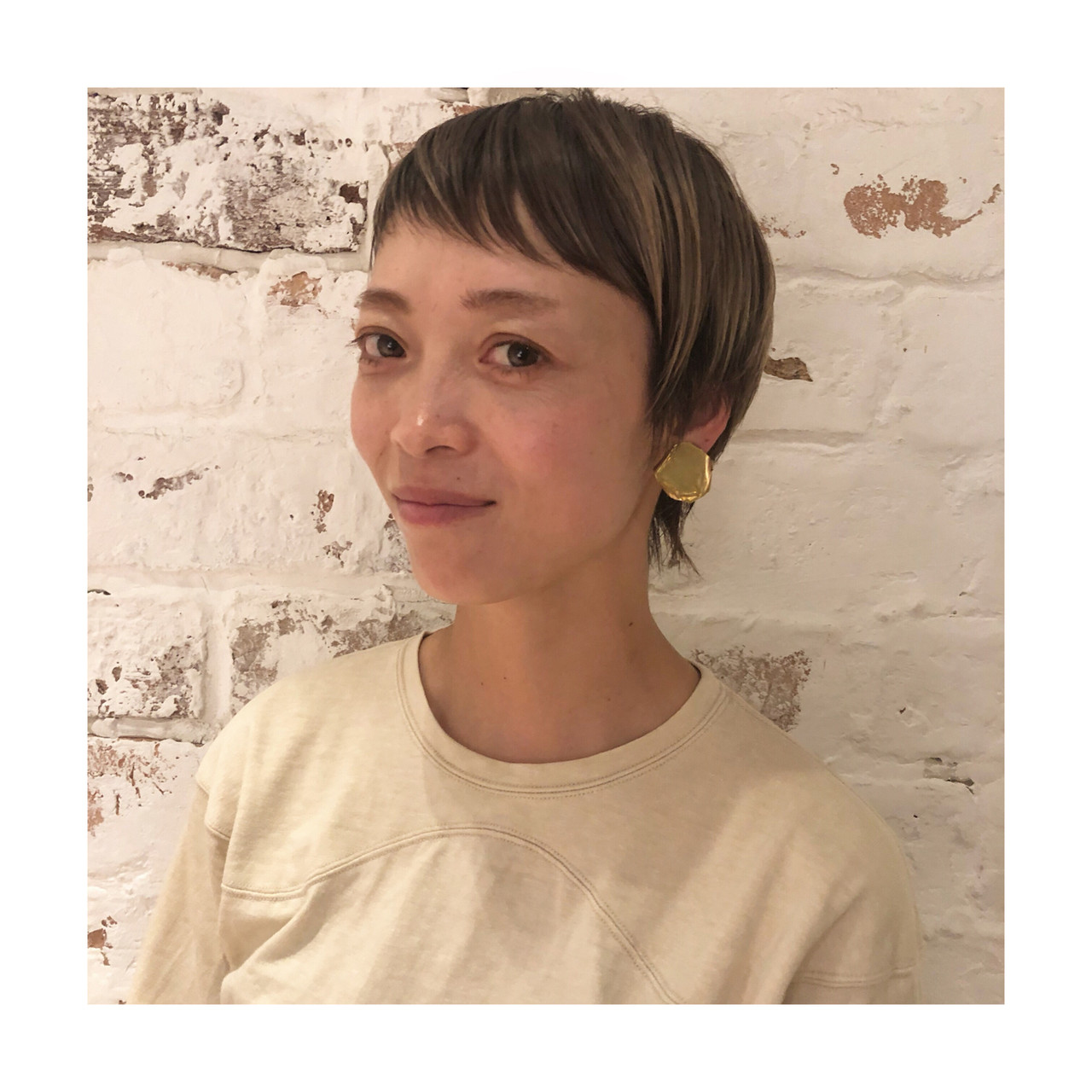 フェミニン ウルフ ショート 3Dハイライト ヘアスタイルや髪型の写真・画像 | 百瀬優 / kakimoto arms aoyama店