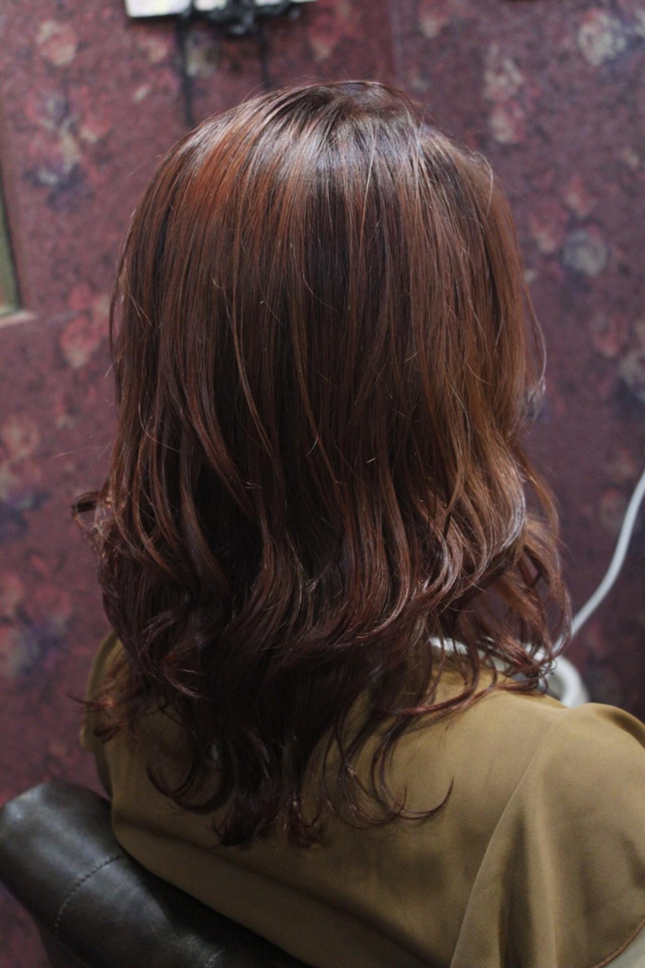 フェミニン ミディアム ブリーチ 外国人風カラーヘアスタイルや髪型の写真・画像