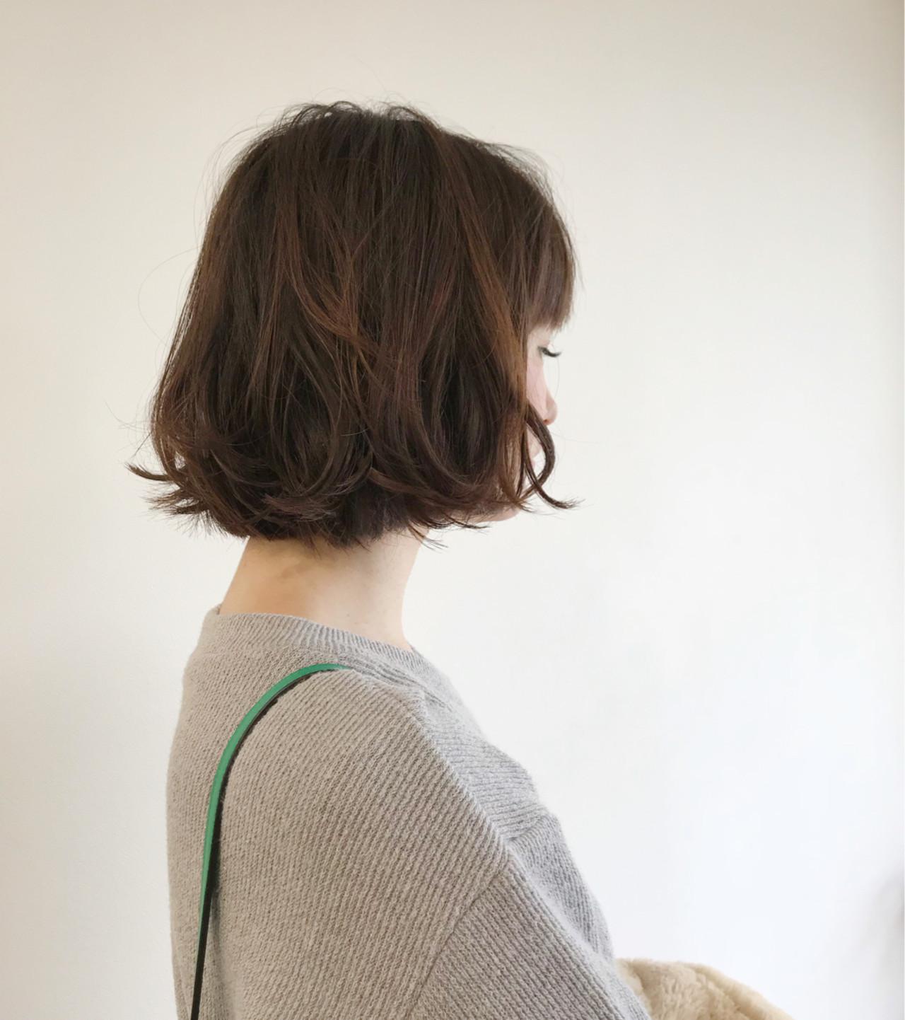 デート パーマ ボブ 外国人風カラー ヘアスタイルや髪型の写真・画像 | タカギツカサ / BECCO