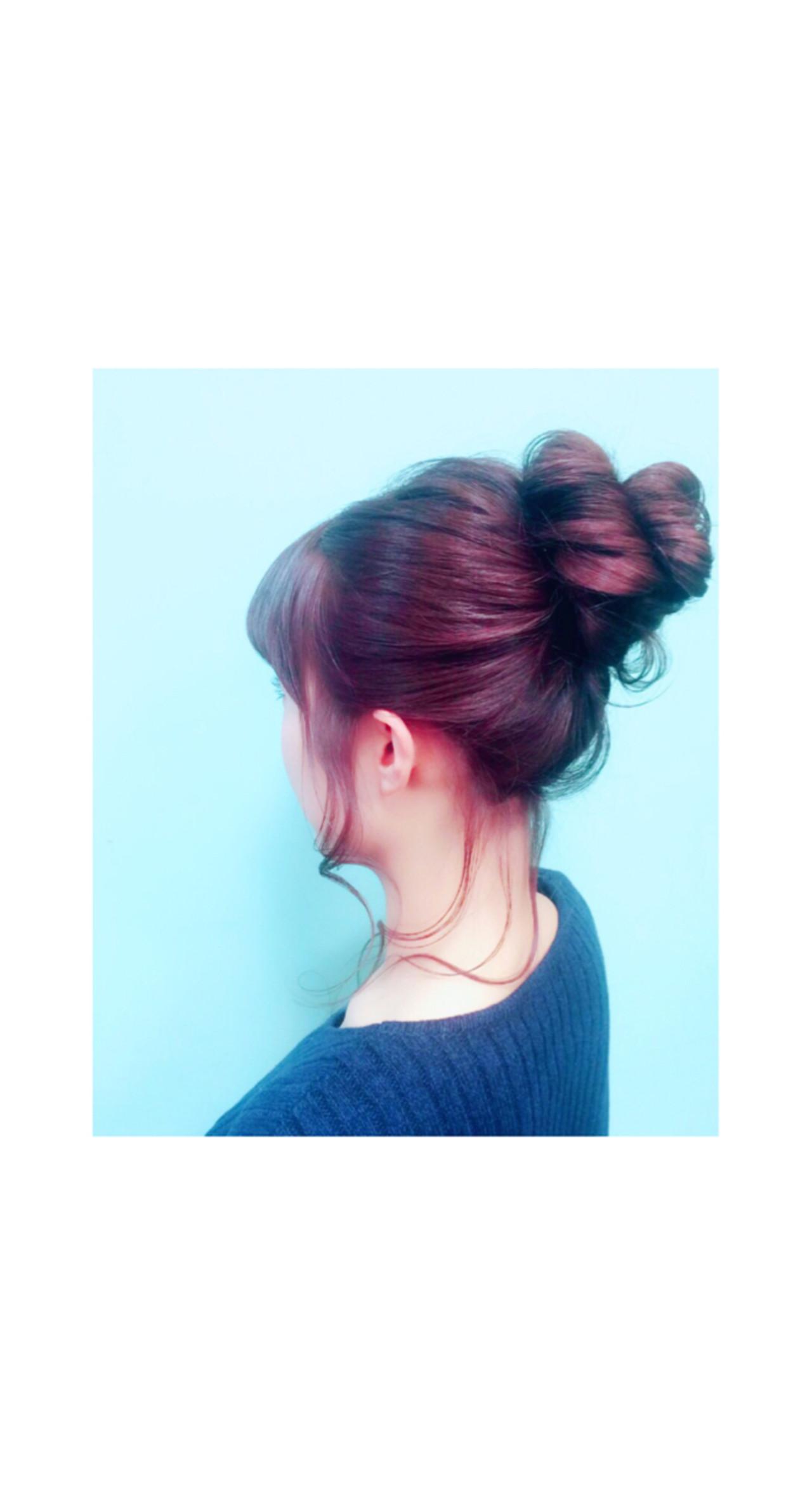 ヘアアレンジ 簡単ヘアアレンジ ロング ショート ヘアスタイルや髪型の写真・画像 | teddy / grauge hair