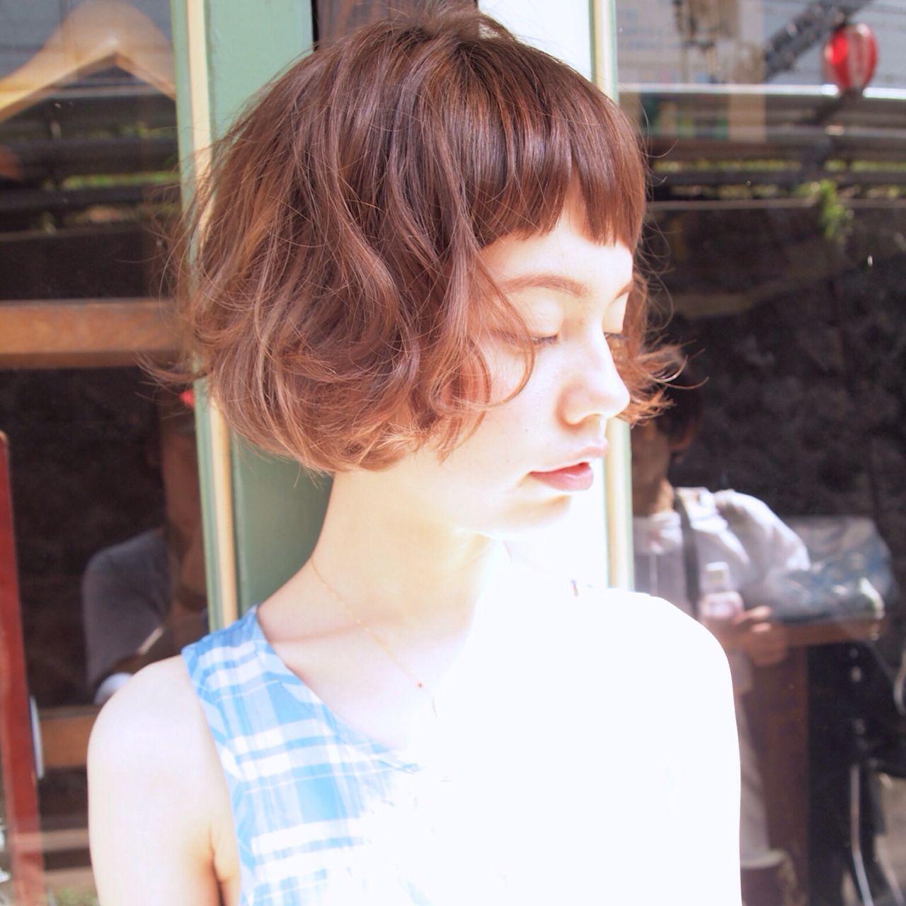 ショート 春 くせ毛風 ストリートヘアスタイルや髪型の写真・画像