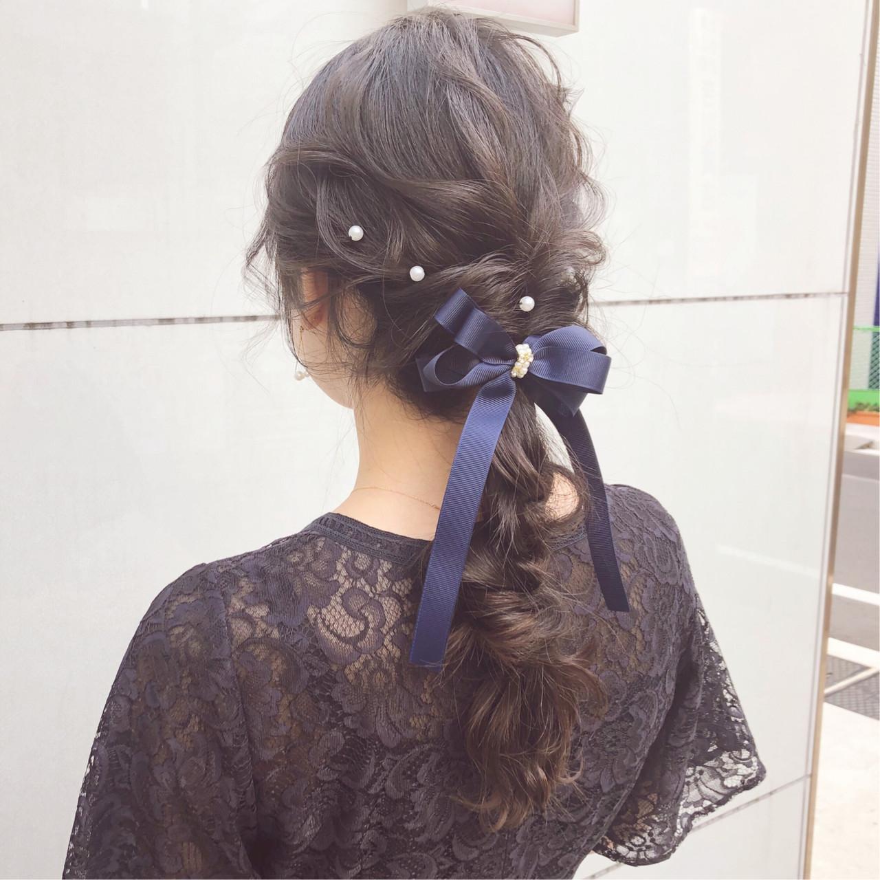 大人かわいい ナチュラル ヘアアレンジ デート ヘアスタイルや髪型の写真・画像 | 『ボブ美容師』永田邦彦 表参道 / send by HAIR