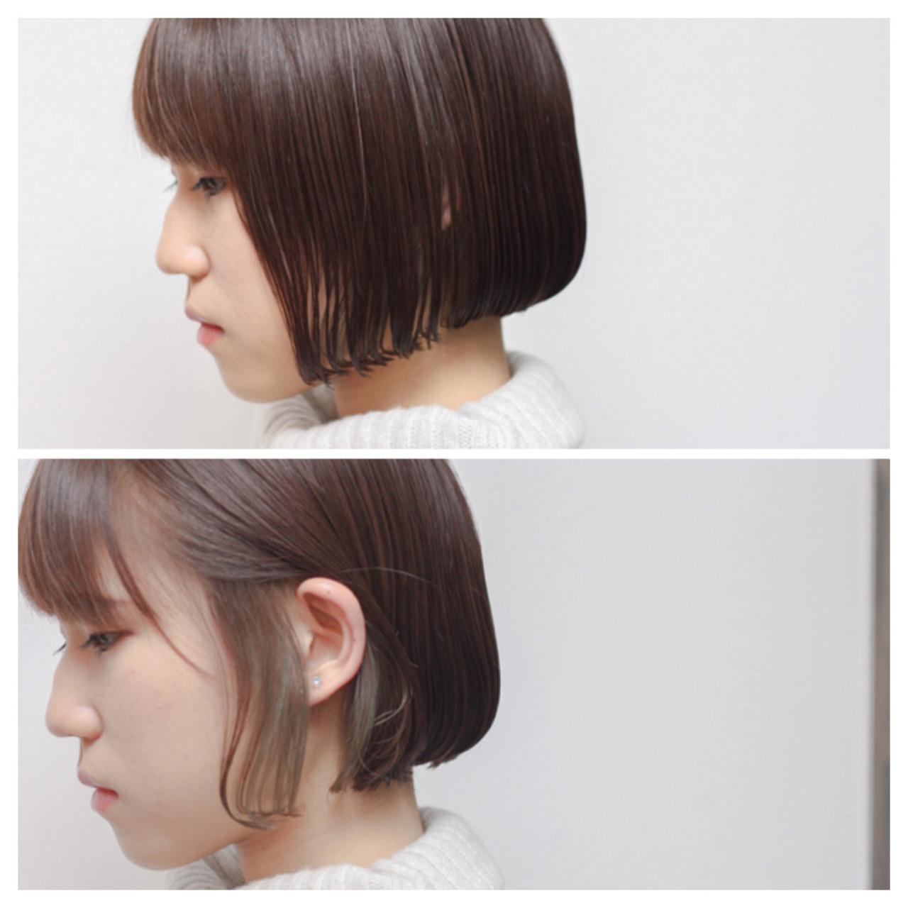 色気 インナーカラー ニュアンス ハイライト ヘアスタイルや髪型の写真・画像   Hiroshi Kuroe 尼崎 / K'LipbyTAL'KE