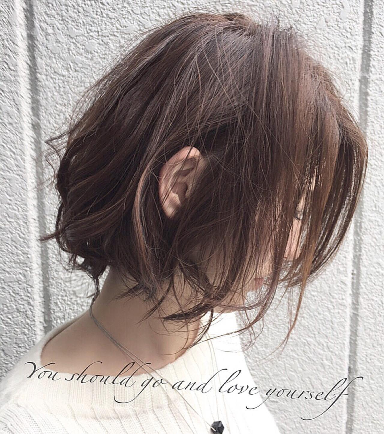 色気 ナチュラル アッシュ ブラウン ヘアスタイルや髪型の写真・画像 | 落合 健二 / hair ales