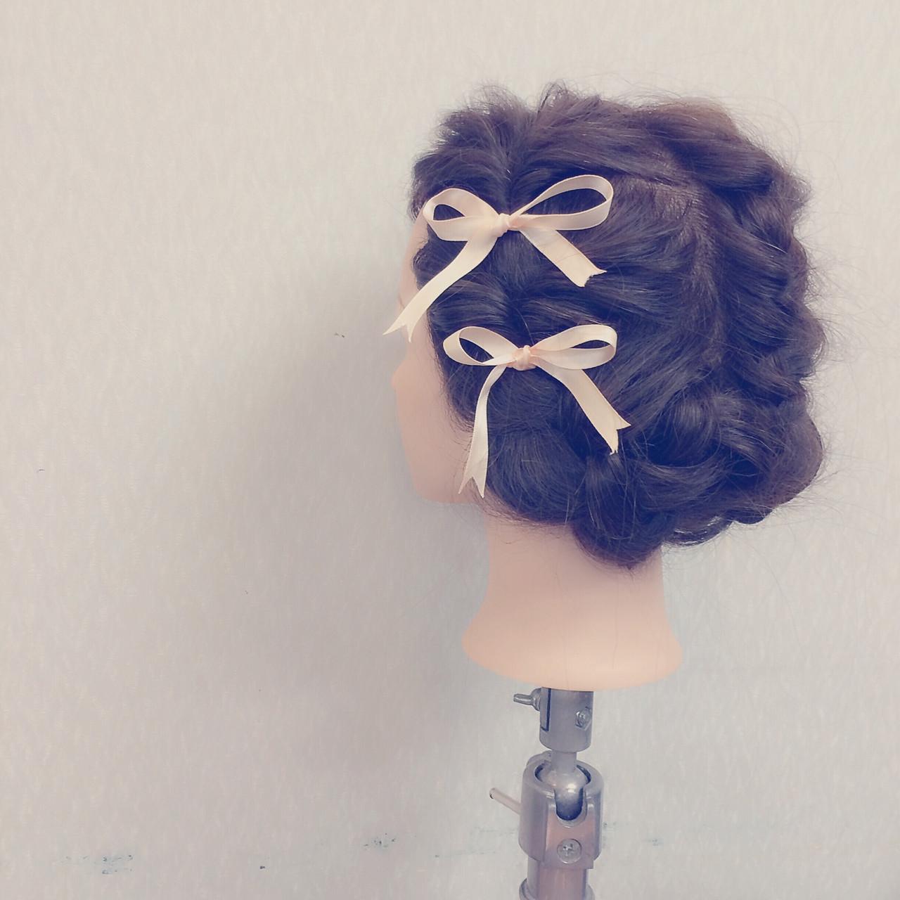 フェミニン 二次会 ヘアアレンジ ゆるふわ ヘアスタイルや髪型の写真・画像   ヤマナカサトル / DIOR of Hair