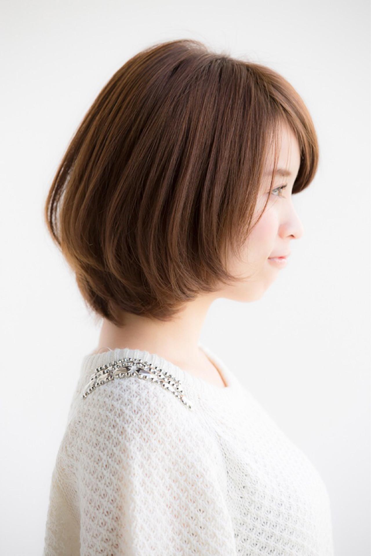 パーマ ナチュラル ボブ ヘアアレンジ ヘアスタイルや髪型の写真・画像 | 松下哲士 / GARDEN aoyama