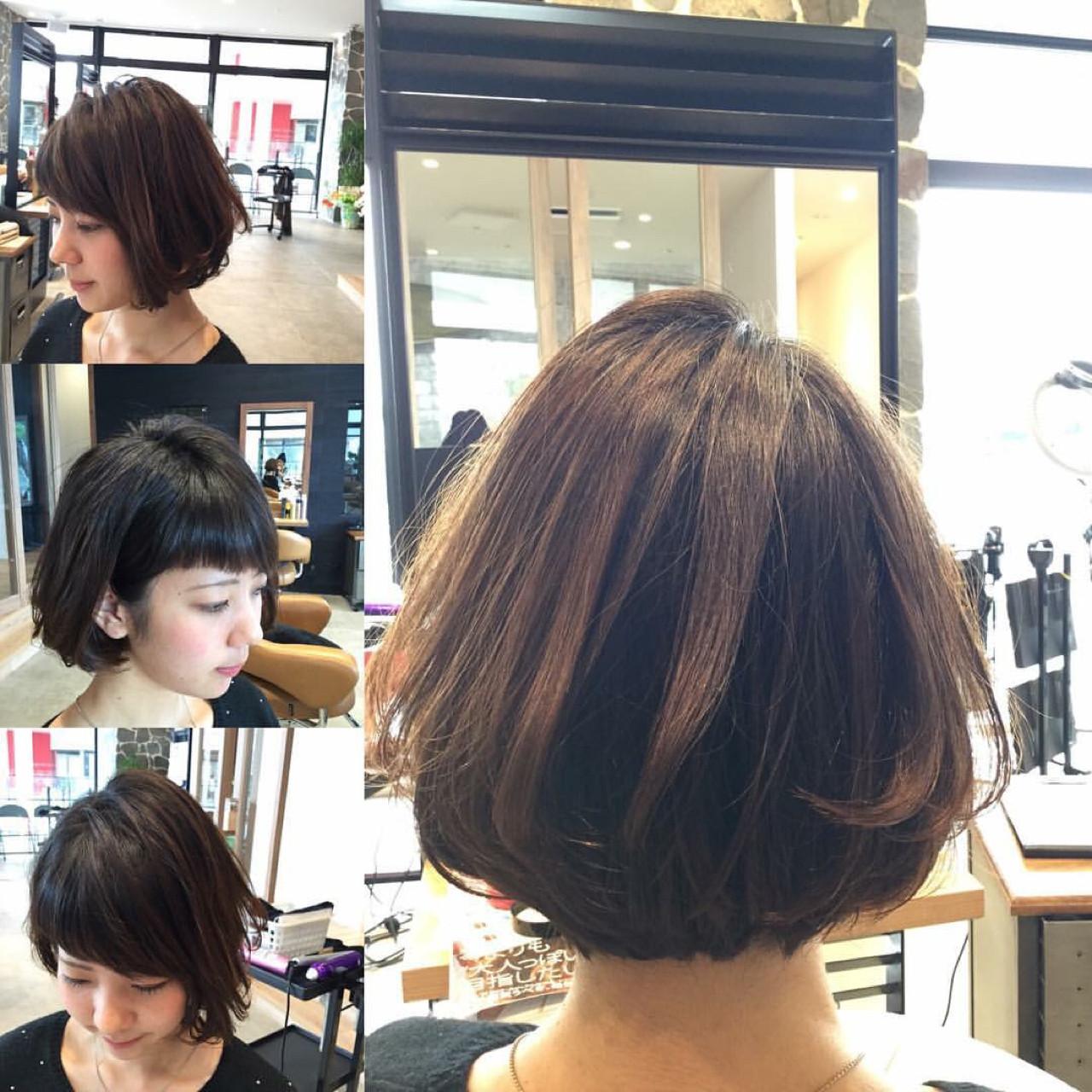 ストリート 大人かわいい 大人女子 前下がりヘアスタイルや髪型の写真・画像