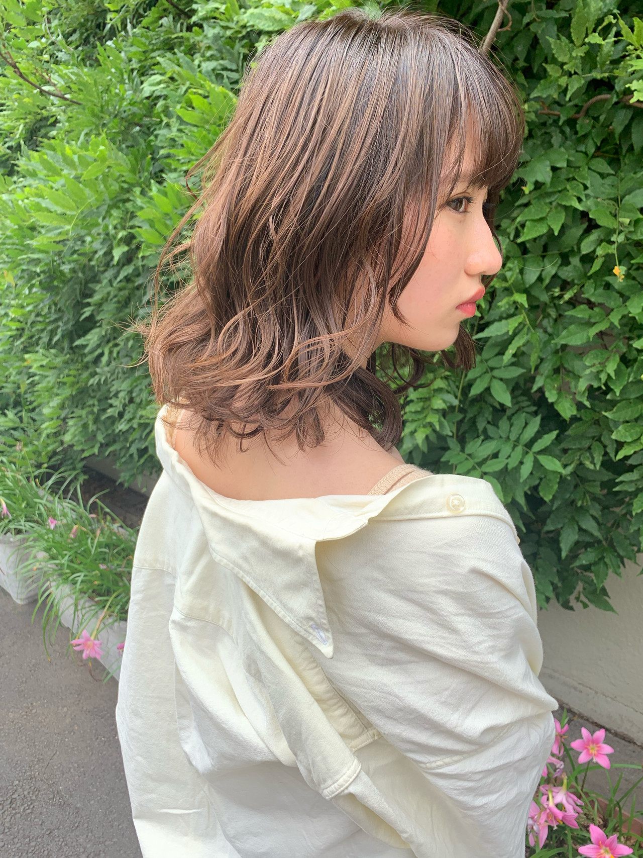 ヘアアレンジ パーマ 成人式 ミディアム ヘアスタイルや髪型の写真・画像 | takuma. / VISEO
