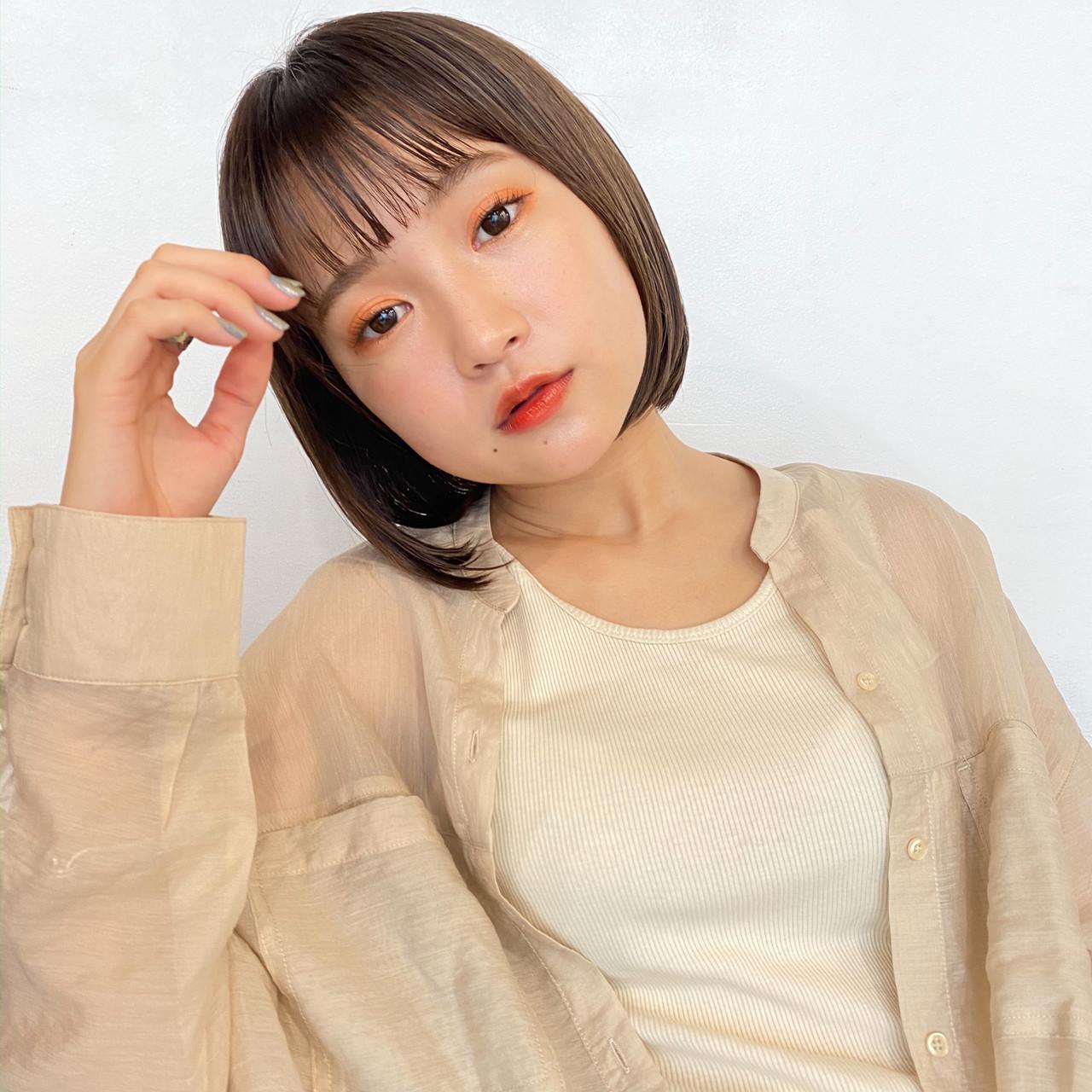 ショートヘア ミニボブ 大人可愛い ショートボブ ヘアスタイルや髪型の写真・画像 | GARDEN harajuku 塩見 / GARDEN harajuku