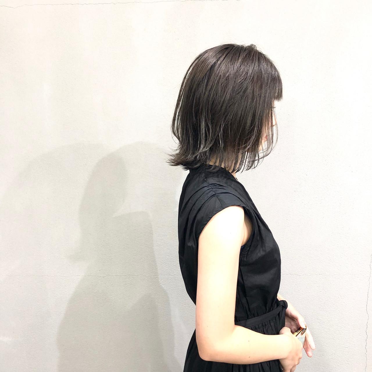 ラベンダーグレー 簡単スタイリング 外ハネボブ イルミナカラー ヘアスタイルや髪型の写真・画像 | 葛西 祐介【#tag】 / #tag