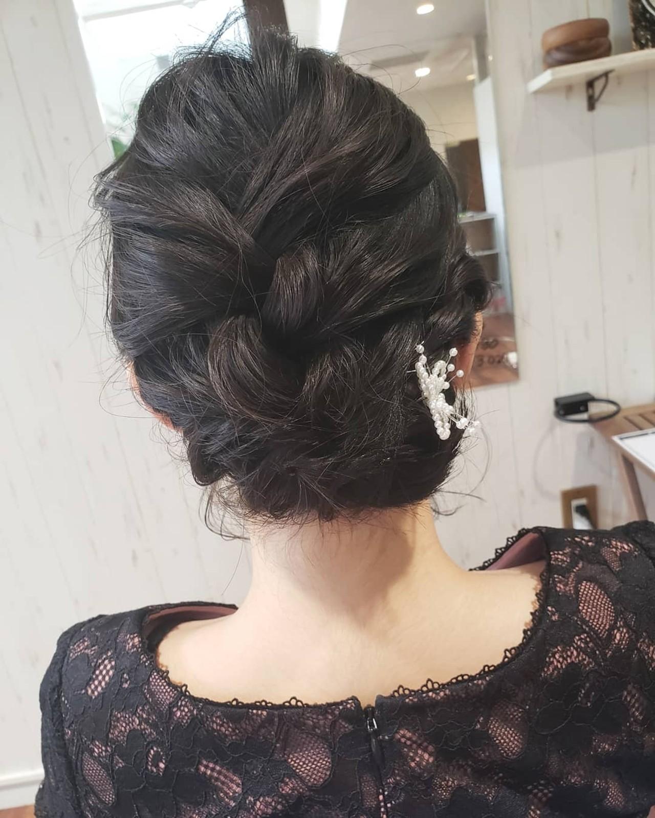 ボブ 結婚式 デート ヘアアレンジ ヘアスタイルや髪型の写真・画像   菅原匠 / Hair&Nail anchor by Laf