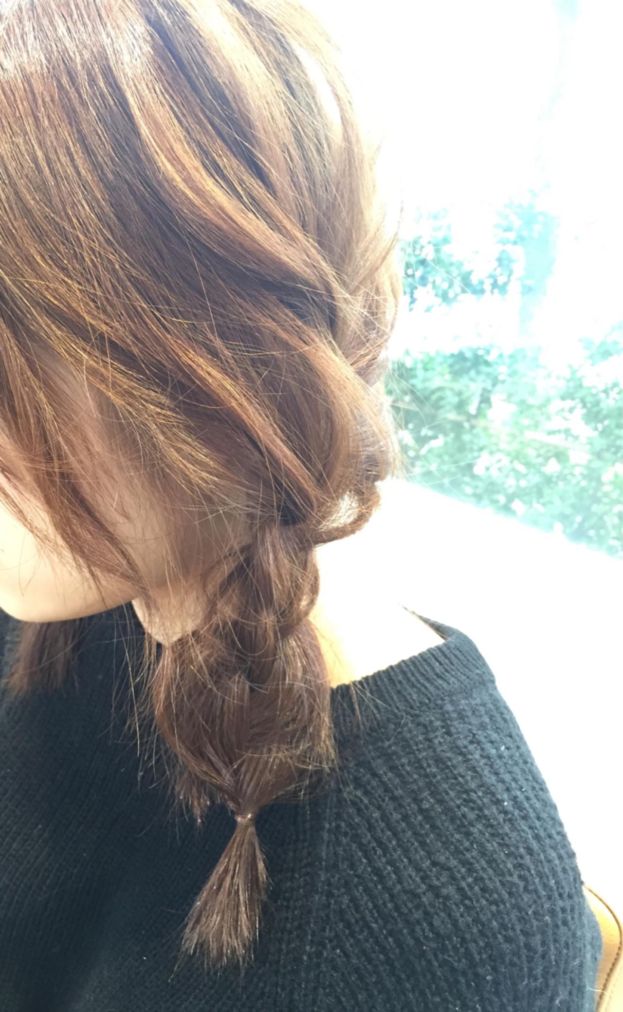 ヘアアレンジ セミロング 簡単ヘアアレンジ ショートヘアスタイルや髪型の写真・画像