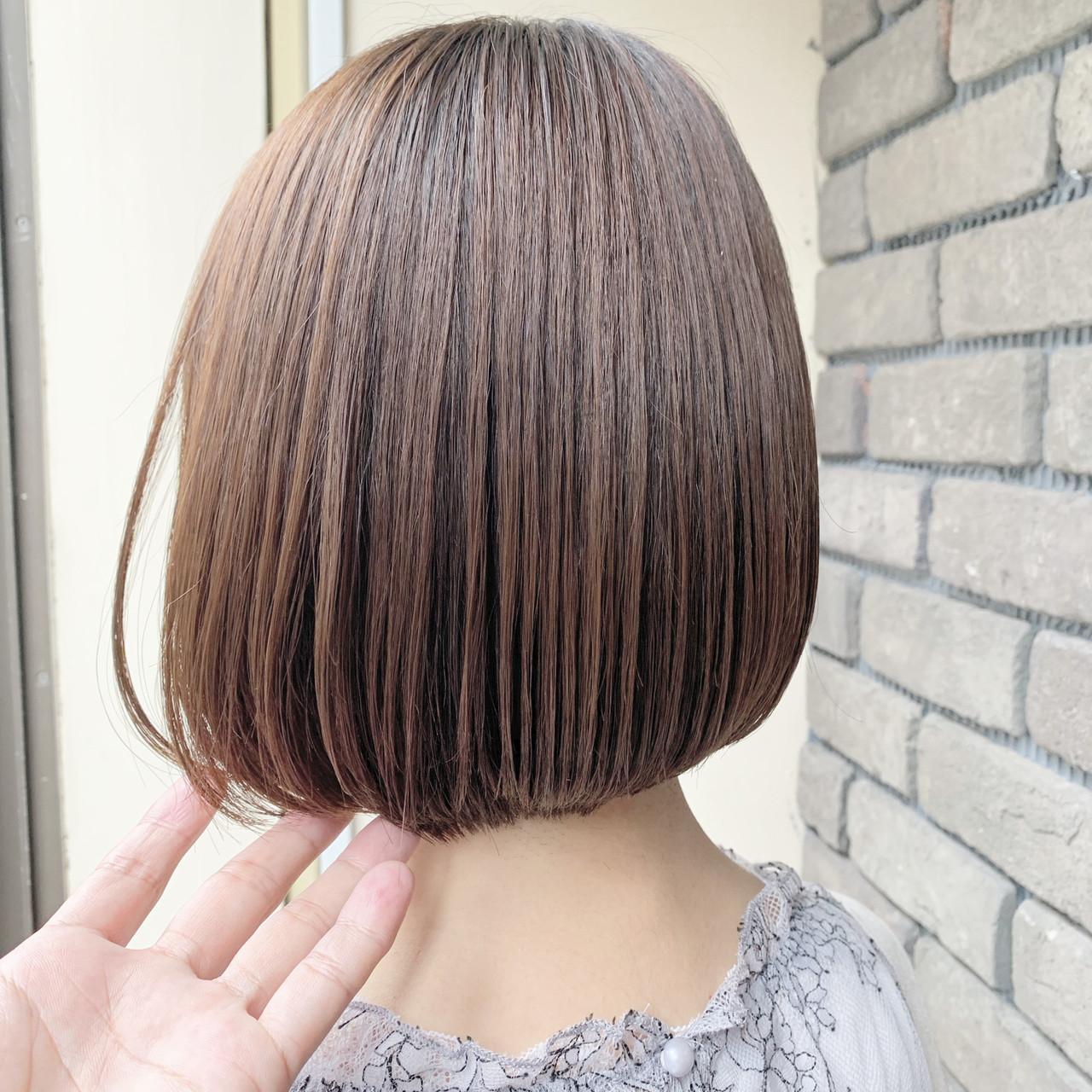 ボブ フェミニン ミニボブ 縮毛矯正 ヘアスタイルや髪型の写真・画像 | 谷川 健太 / ROVERSI