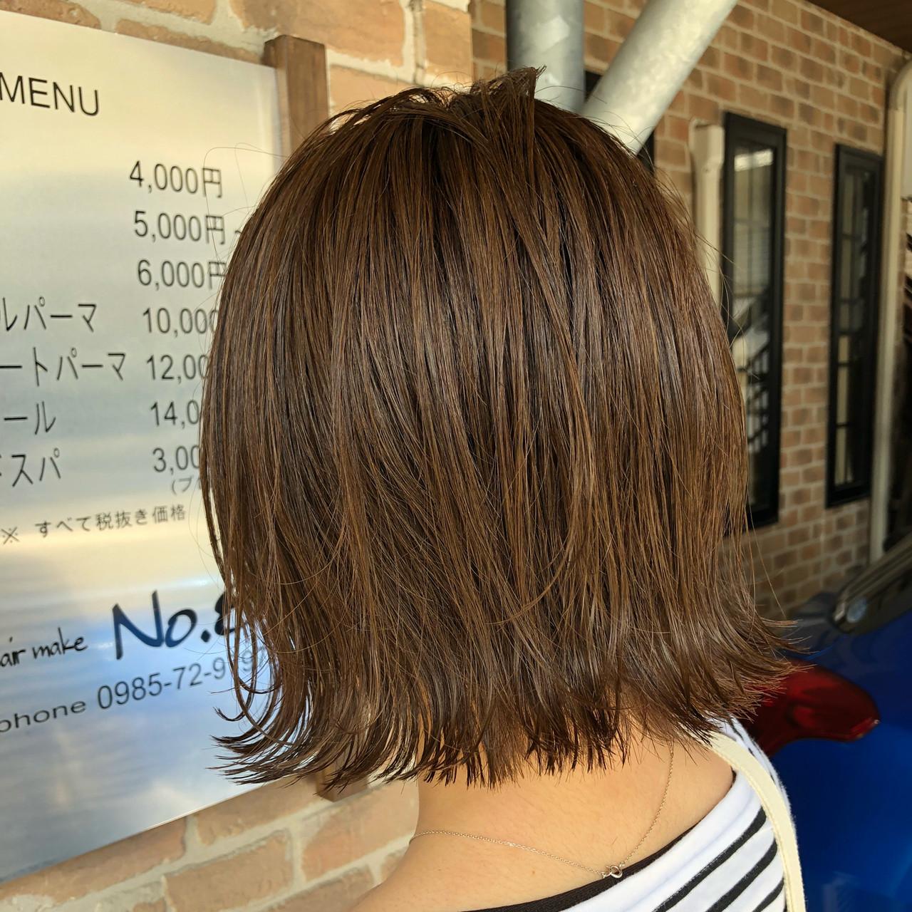 切りっぱなしボブ オフィス 簡単ヘアアレンジ ヘアアレンジ ヘアスタイルや髪型の写真・画像   岩切 祐樹 / hair make No.8