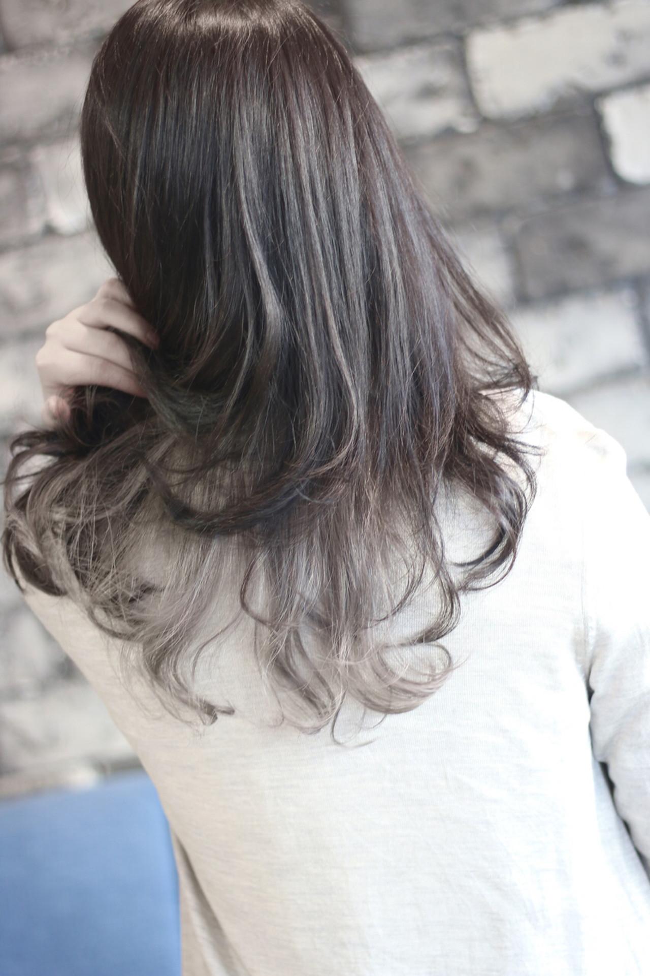 アッシュ ストリート グラデーションカラー 外国人風ヘアスタイルや髪型の写真・画像