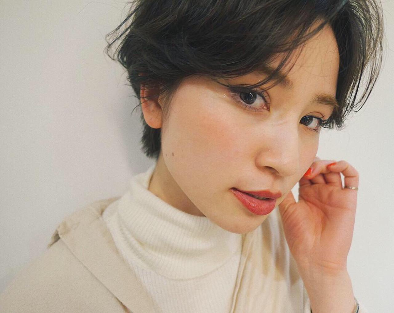 ハンサムショート ナチュラル ショート オフィス ヘアスタイルや髪型の写真・画像 | 菅沼宏恵 /