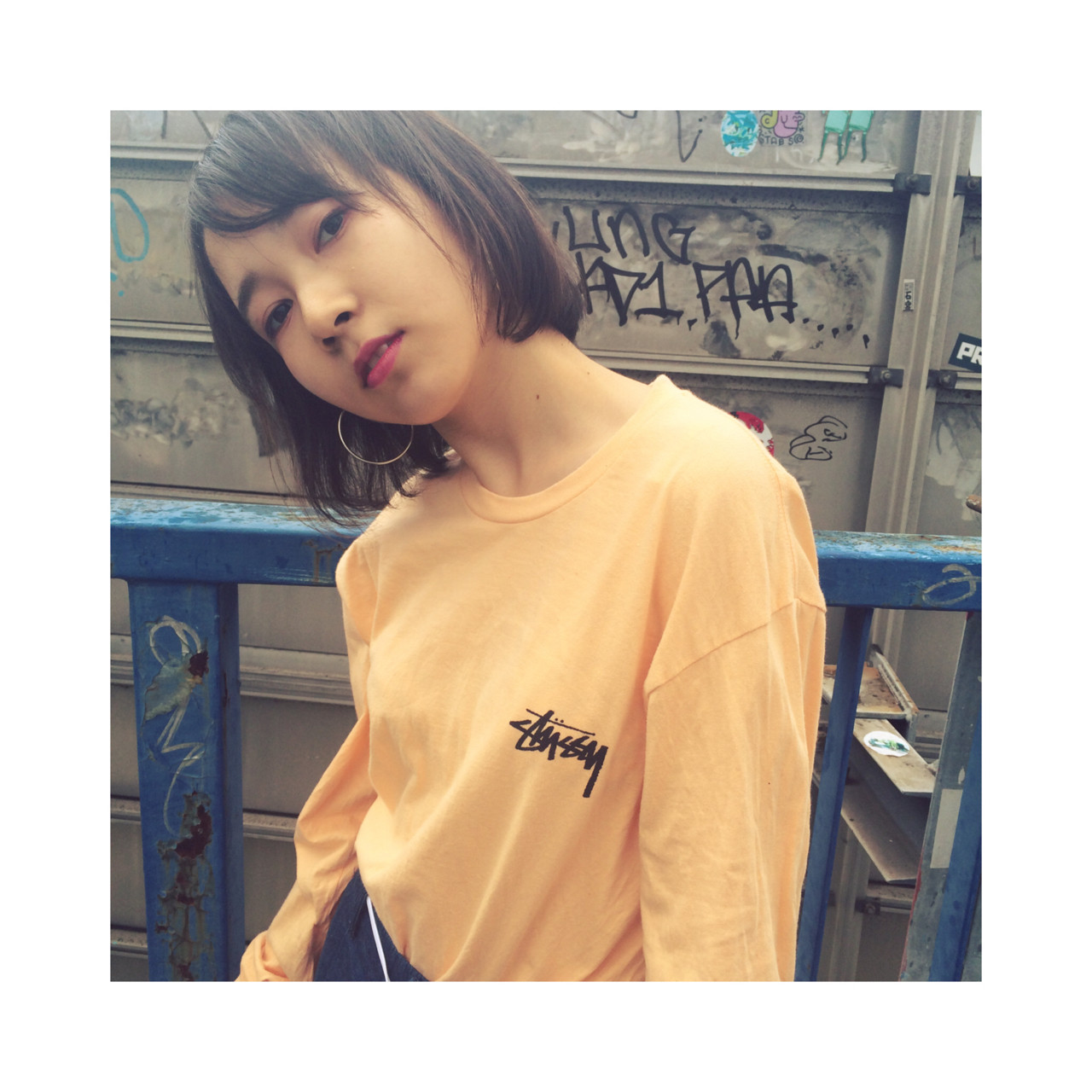ウェットヘア ストリート 外国人風 アッシュ ヘアスタイルや髪型の写真・画像   カワノチヒロ / VEGA,