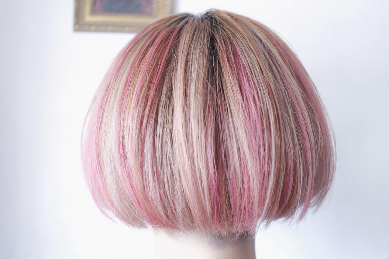 ハイライト ボブ 外国人風 透明感 ヘアスタイルや髪型の写真・画像 | creap / creap