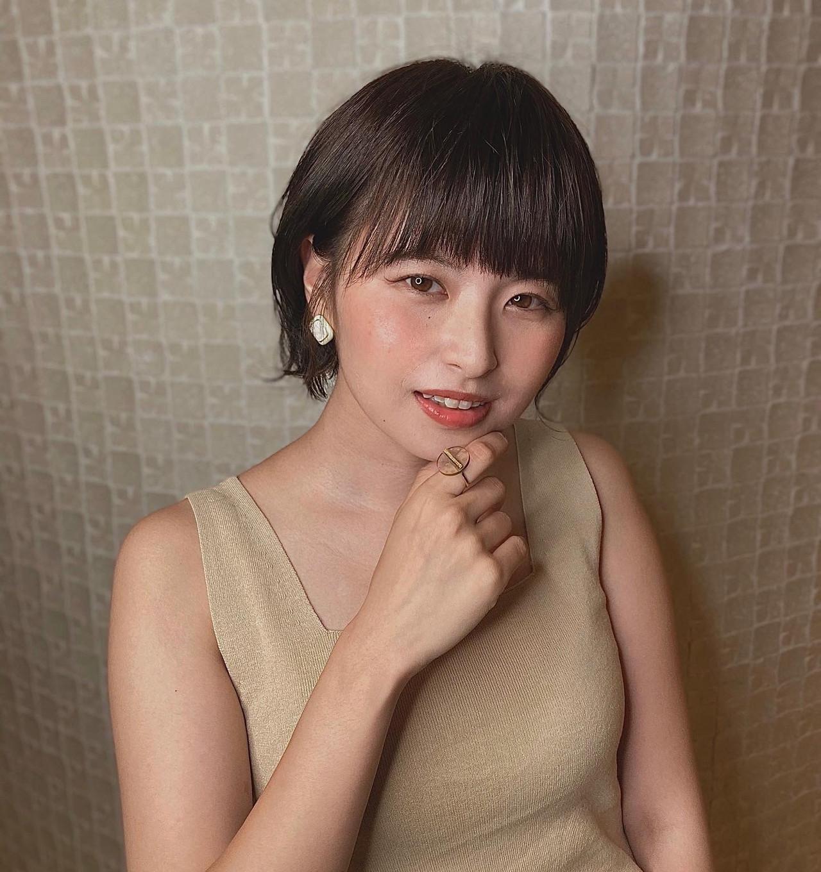 アッシュ 暗髪 ナチュラル ショートボブ ヘアスタイルや髪型の写真・画像 | Reina /