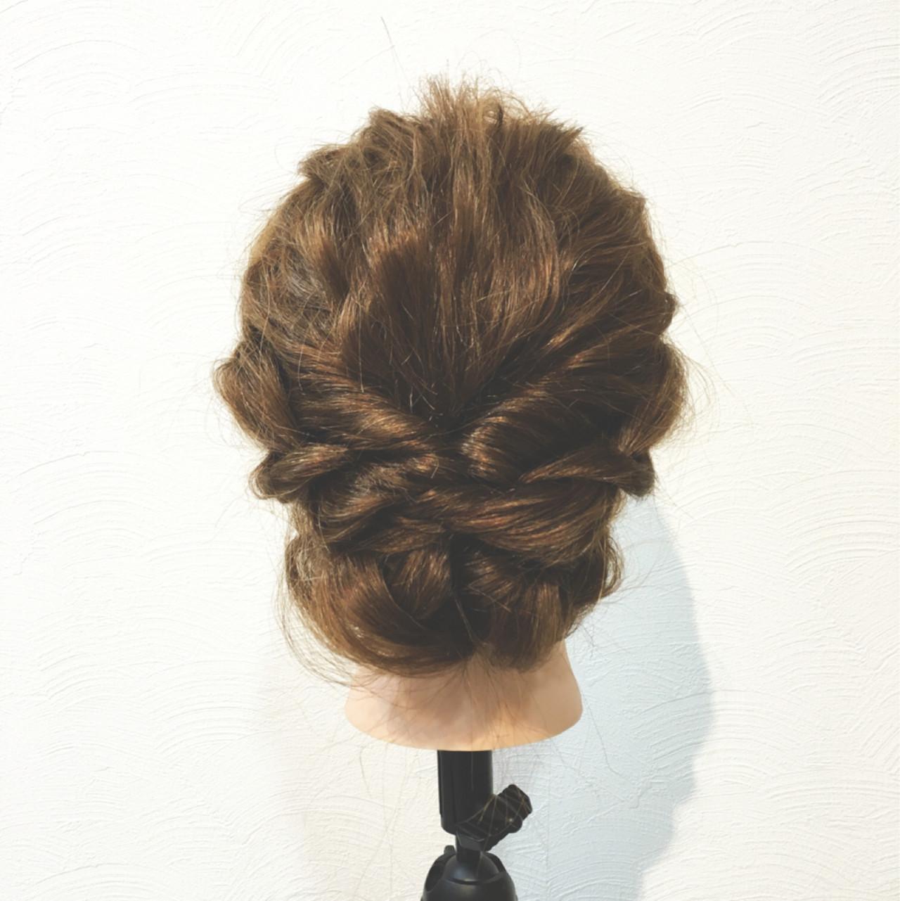 ショート ボブ 三つ編み ヘアアレンジヘアスタイルや髪型の写真・画像
