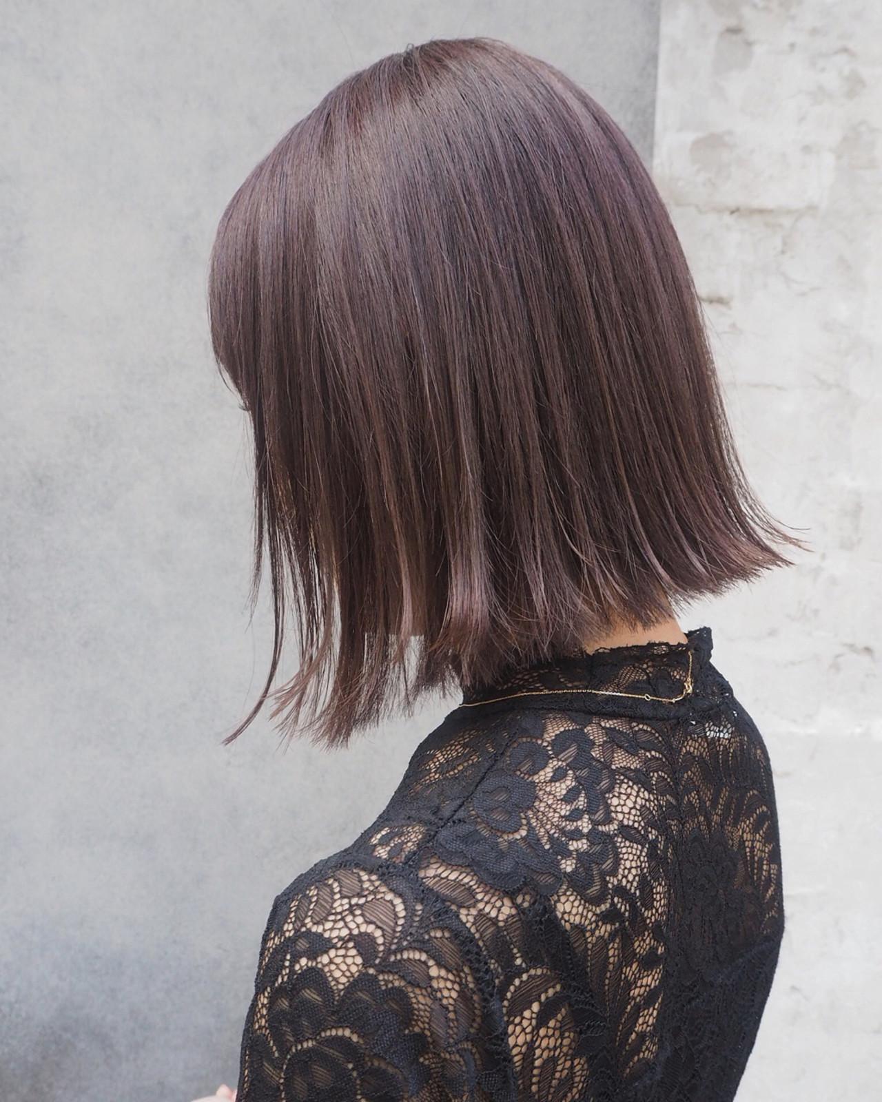オフィス デート リラックス ボブ ヘアスタイルや髪型の写真・画像   宮迫 真美 / airfeel