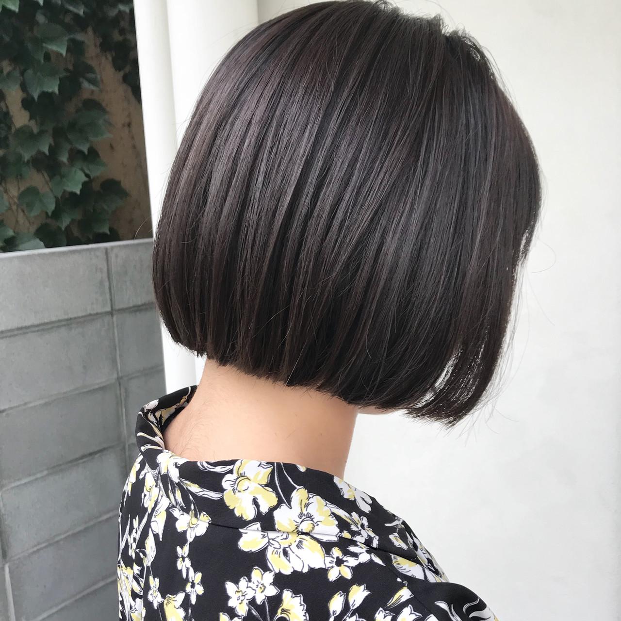 オフィス デート 黒髪 ナチュラル ヘアスタイルや髪型の写真・画像 | 槙山ユースケ/トップスタイリスト / chobii