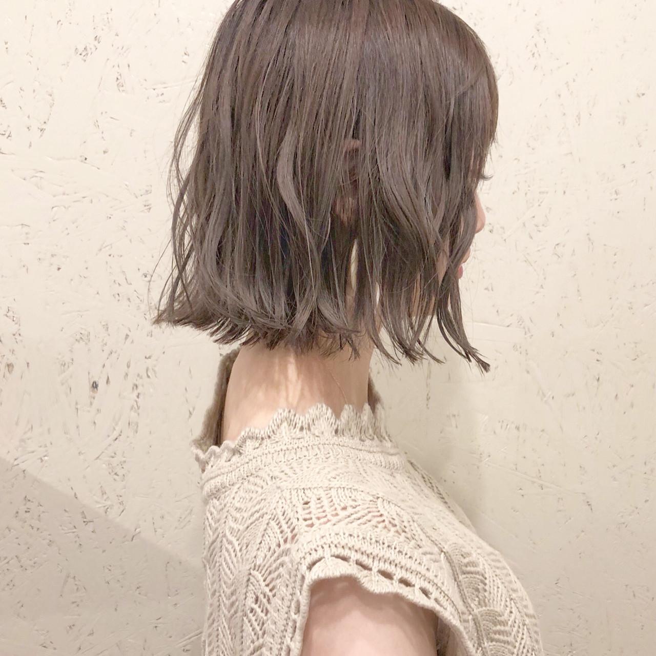 オフィス ボブ フェミニン ヘアアレンジヘアスタイルや髪型の写真・画像