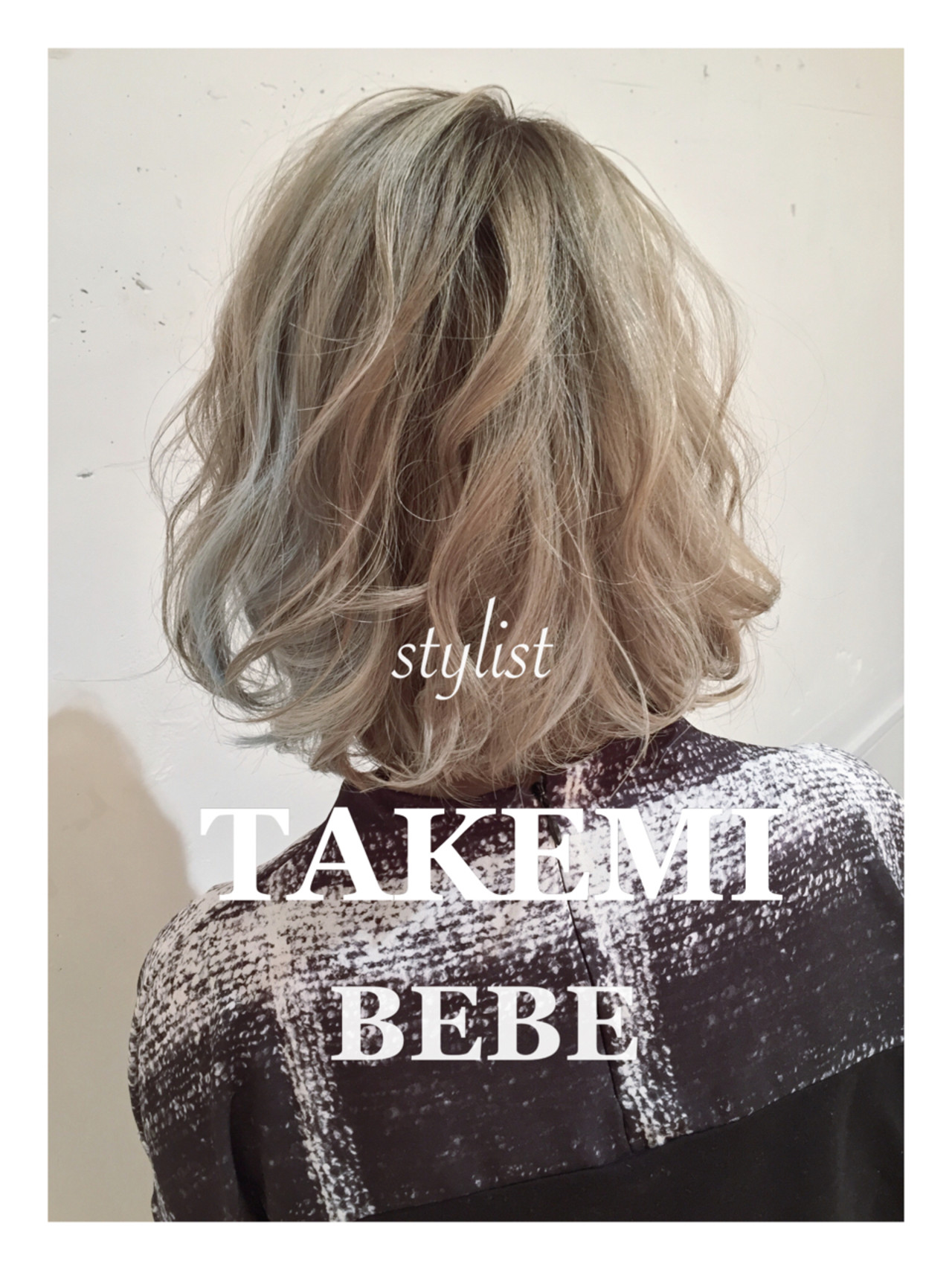 ボブ 外国人風 ハイライト アッシュヘアスタイルや髪型の写真・画像