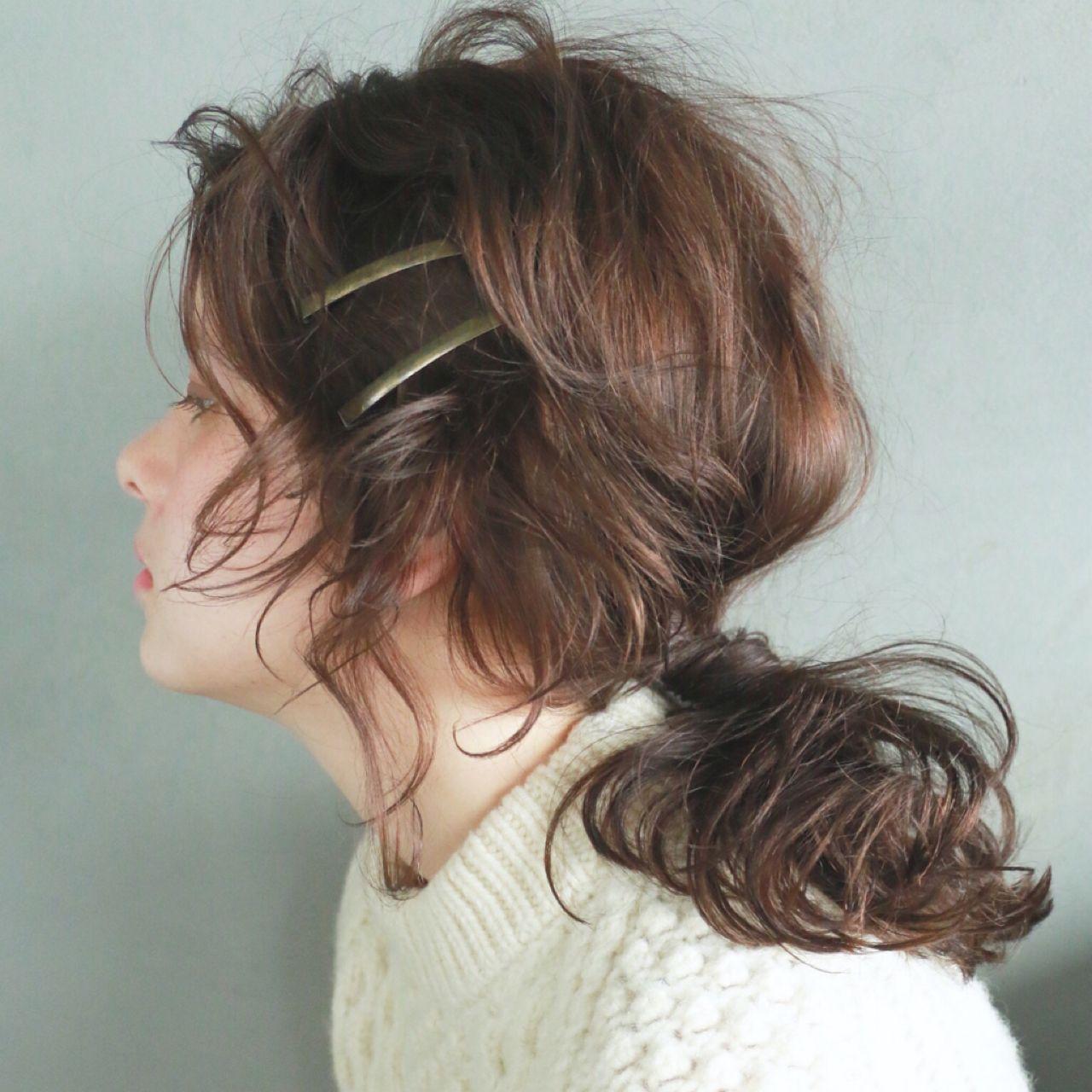 ミディアム 大人かわいい パーティ ヘアアレンジ ヘアスタイルや髪型の写真・画像 | 高橋 忍 / nanuk渋谷店(ナヌーク)