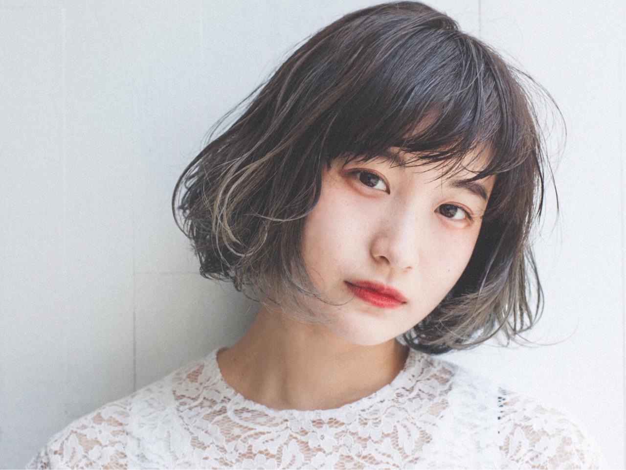 大人女子 ボブ ショートボブ ナチュラル ヘアスタイルや髪型の写真・画像 | くるみ /