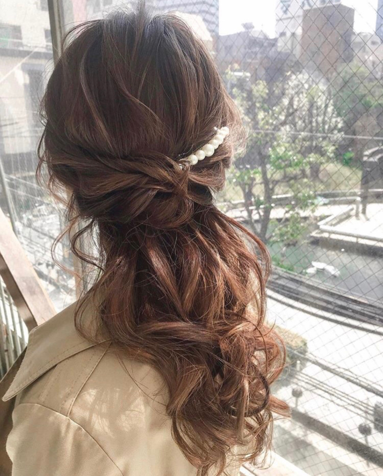 デート 簡単ヘアアレンジ ヘアアレンジ 結婚式ヘアスタイルや髪型の写真・画像